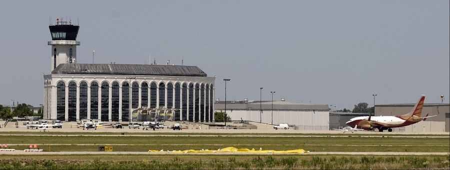 The air traffic control tower at the DuPage Airport in West Chicago could be shut down if lawmakers fail to avert federal spending cuts next month.