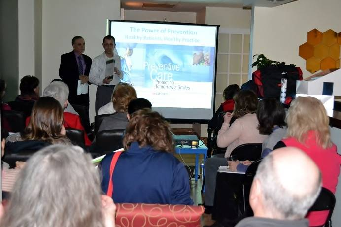 Arlington Heights orthodontist hosts educational event for local dentists and hygienists.