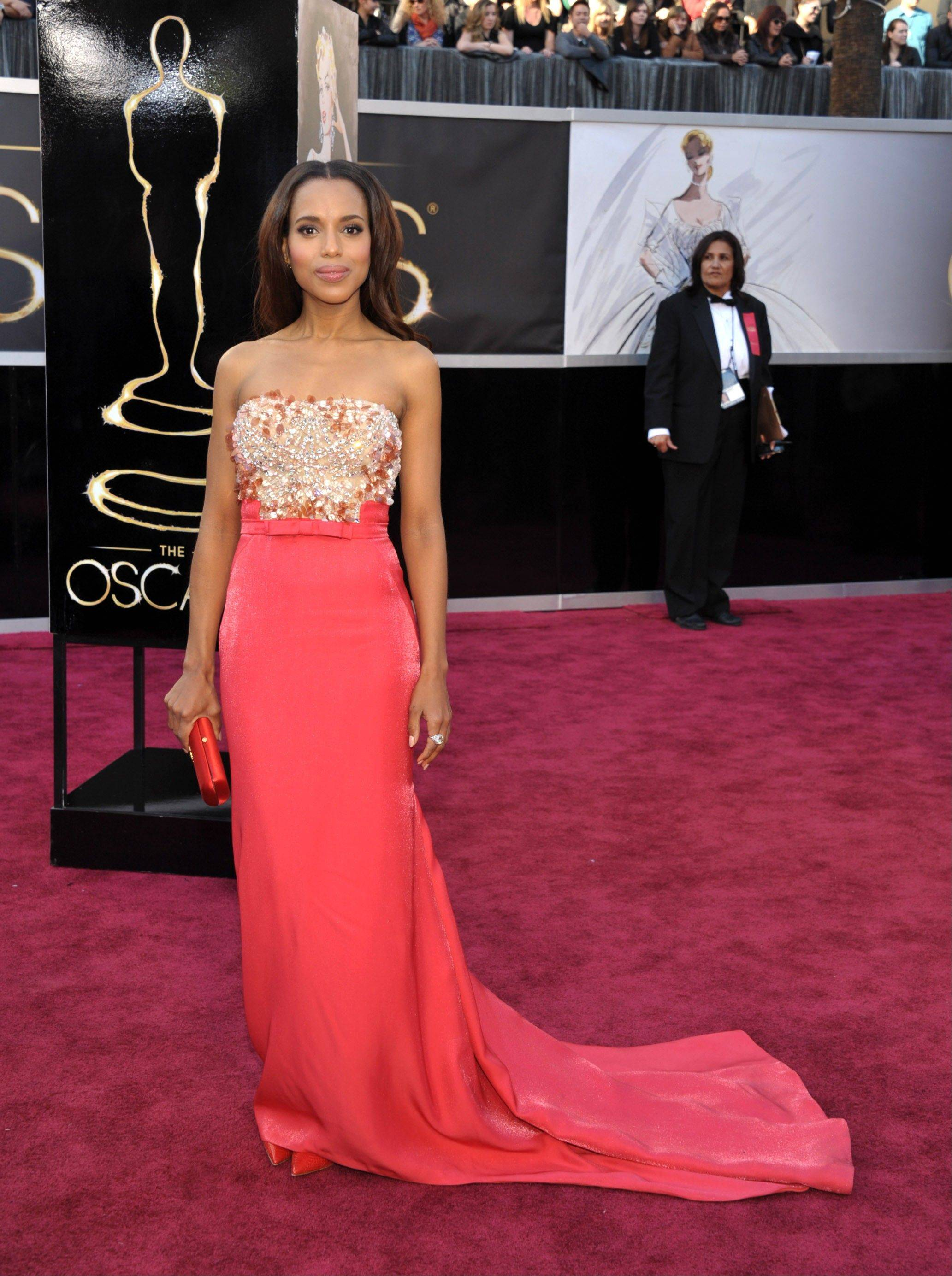 Actress Kerry Washington arrives at the 85th Academy Awards at the Dolby Theatre on Sunday in Los Angeles.