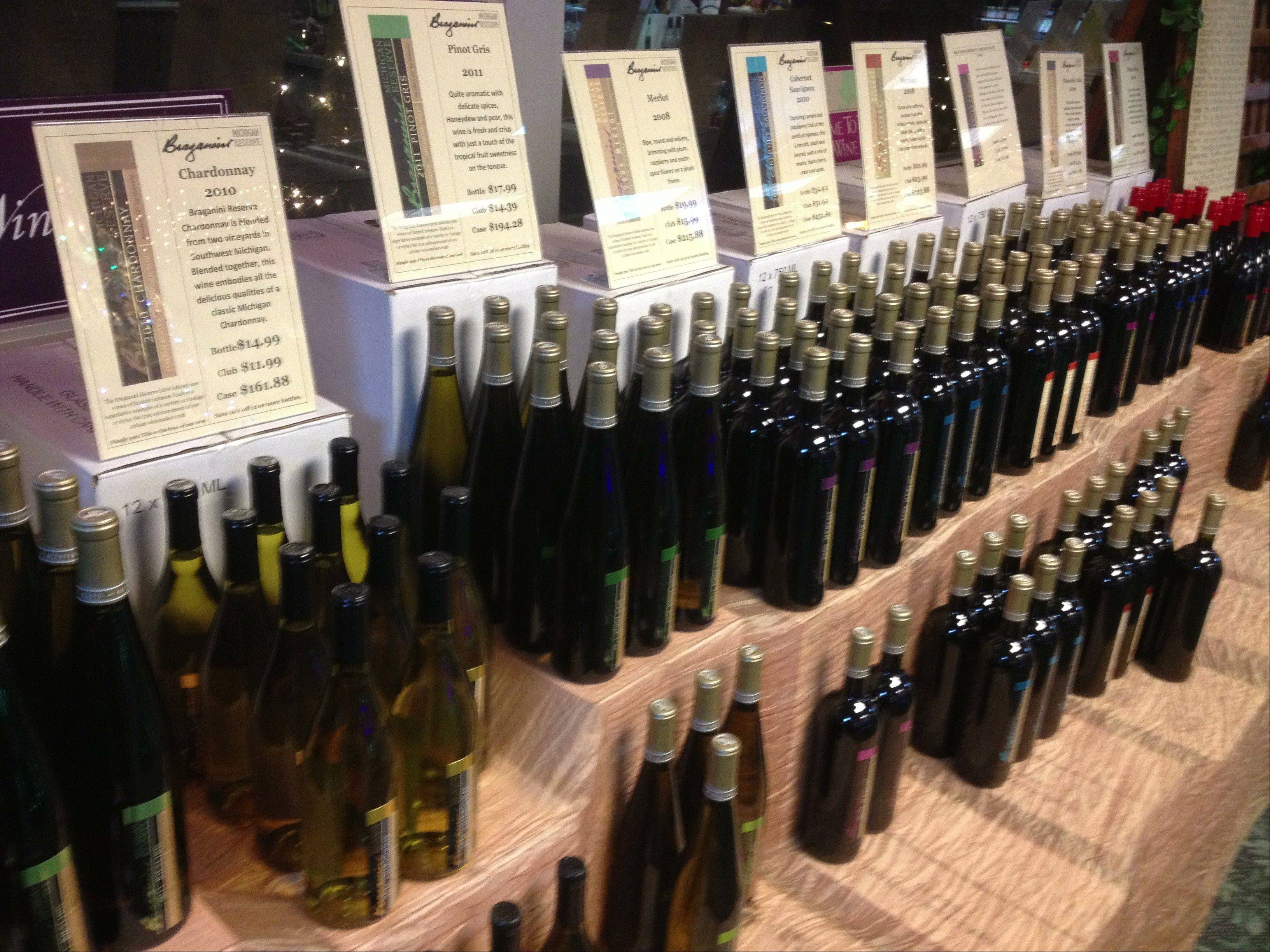 St. Julians Winery offers a nice array of whites and an extensive gift shop.