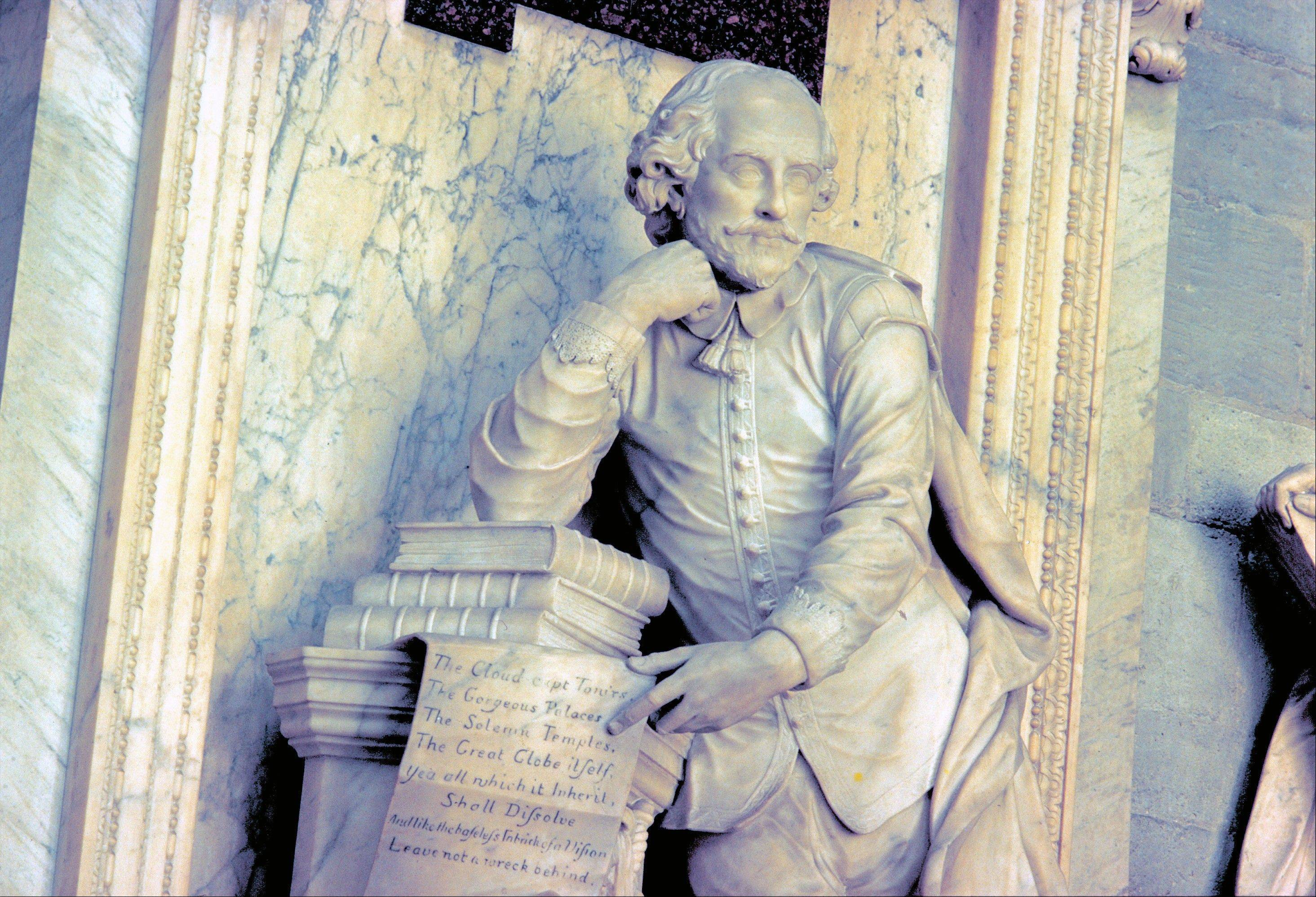 A monument to William Shakespeare is in the Poets Corner at Westminster Abbey in London. Many famous British writers are memorialized here, including Charles Dickens and Geoffrey Chaucer.