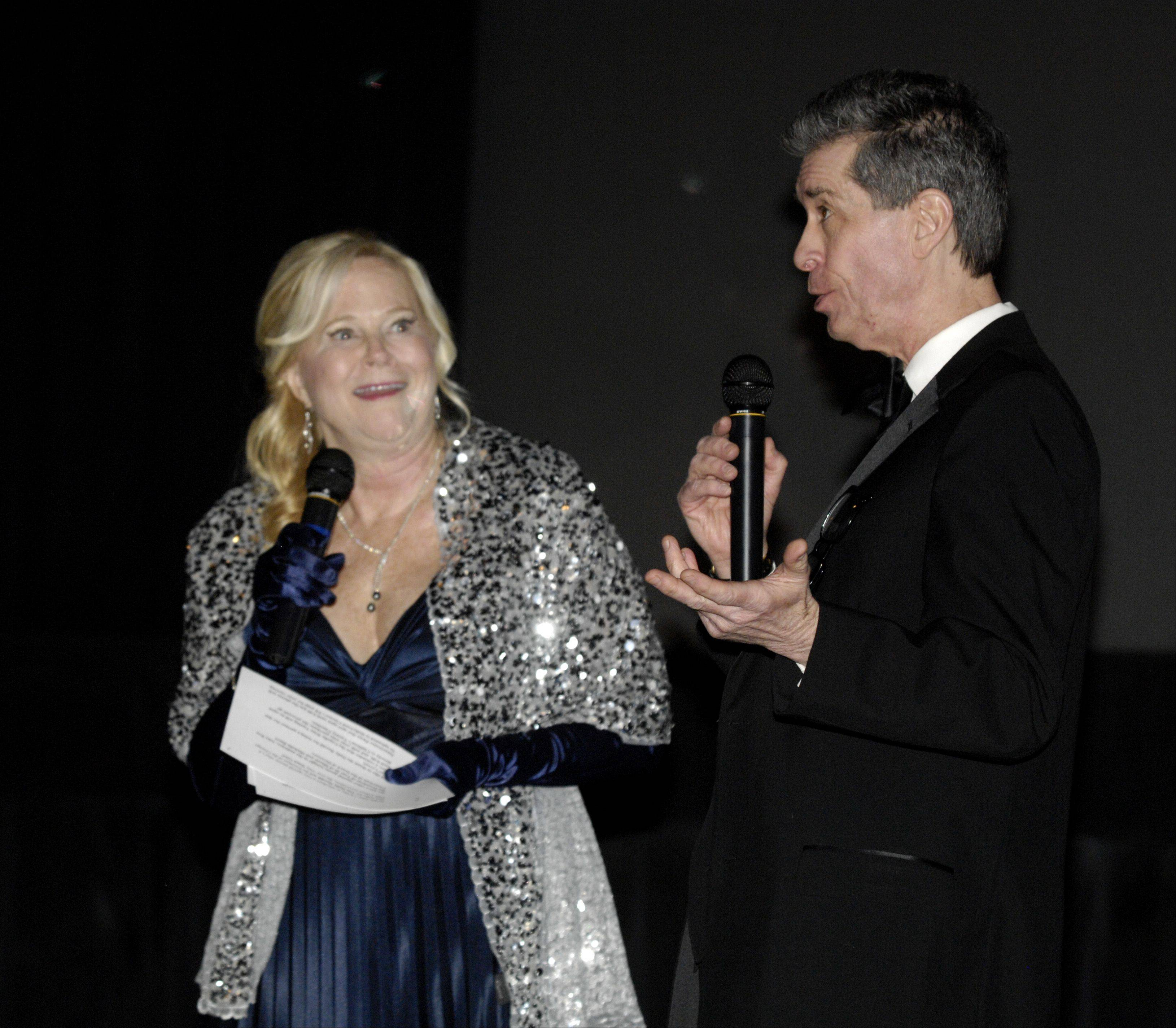 Daily Herald Film Critic Dann Gire and Hollywood 360 Radio Network film critic Sarah Adamson host an Academy Awards event at the Hollywood Palms Cinema in Naperville Sunday.