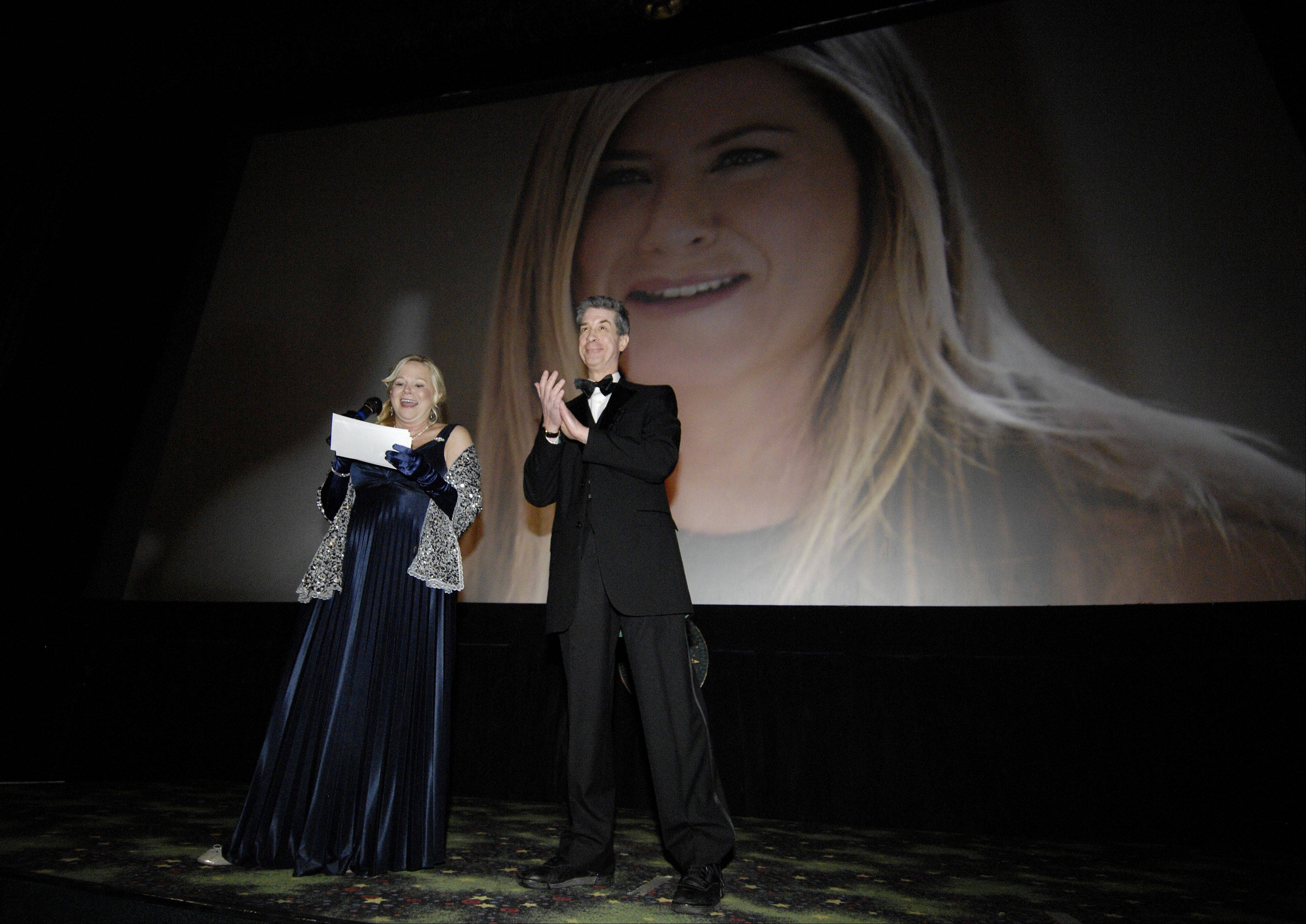 Mark Black/mblack@dailyherald.comDaily Herald Film Critic Dann Gire and Hollywood 360 Radio Network film critic Sarah Adamson host a Academy Awards event at the Hollywood Palms Cinema in Naperville, Sunday.