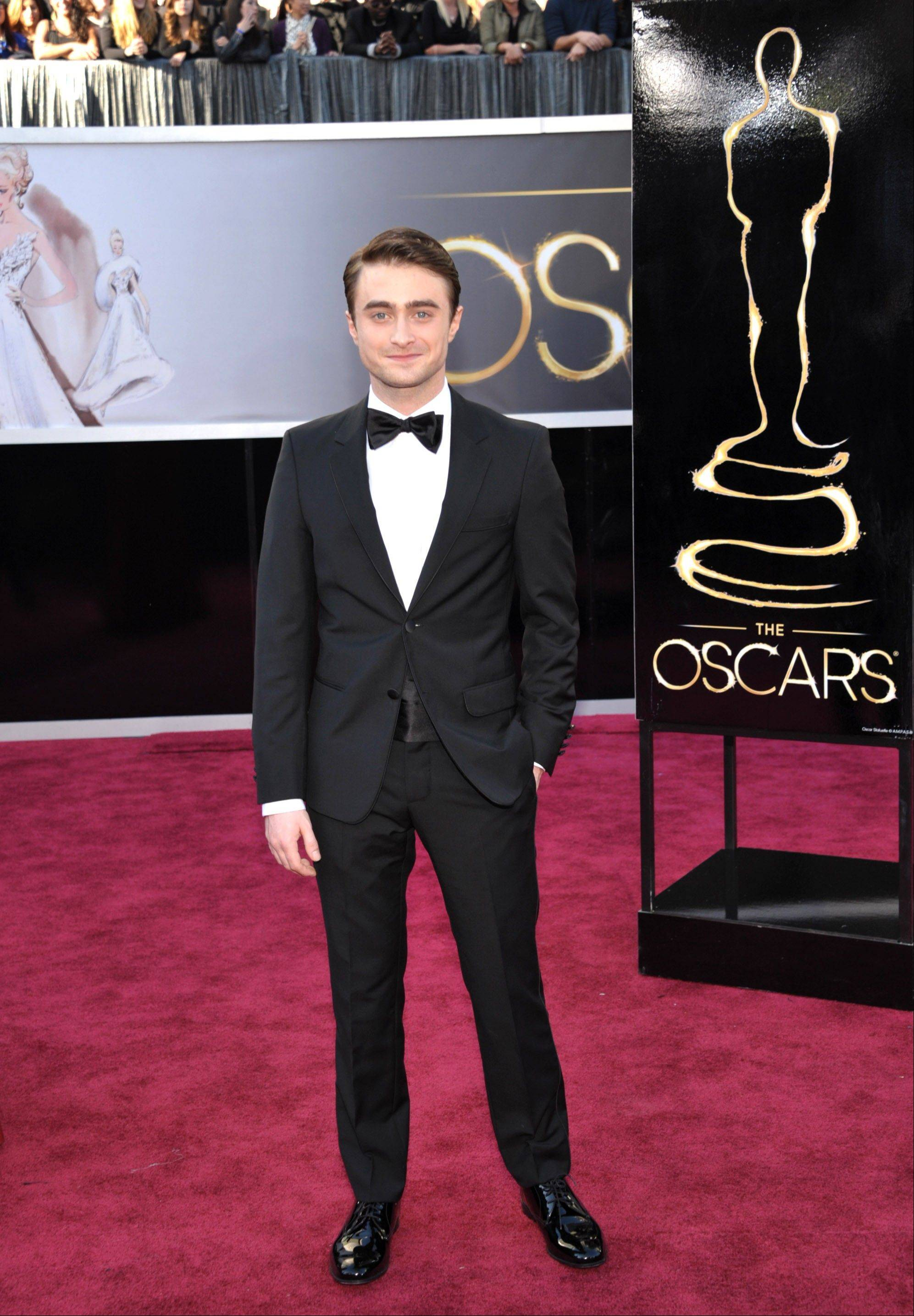 """Harry Potter"" star Daniel Radcliffe looks dapper on the red carpet."
