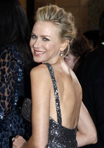 Naomi Watts sparkles in her Armani gown.