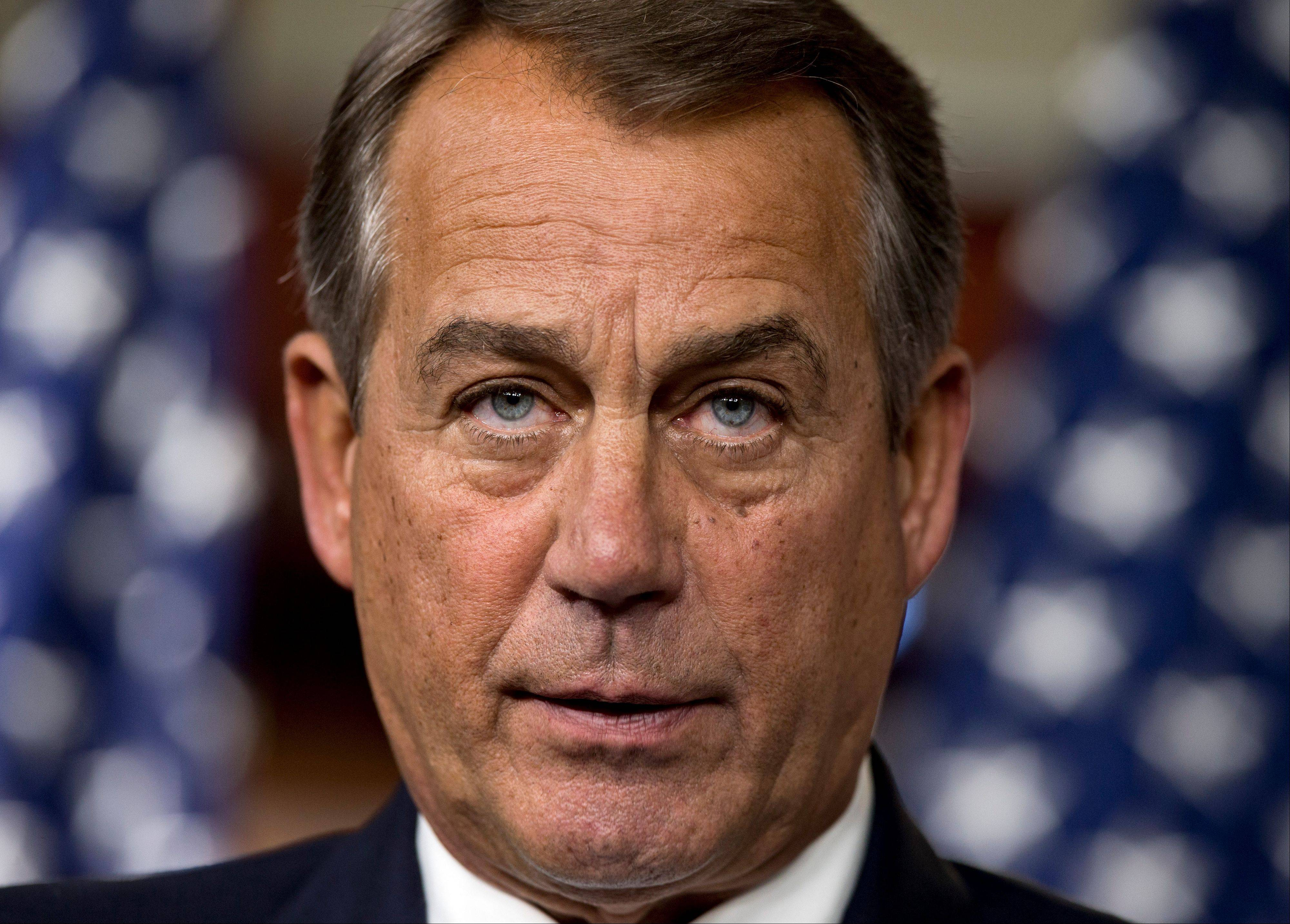 House Speaker John Boehner, seen here, other members of Congress and the White House are locked in yet another compromise-or-else deadline Friday.