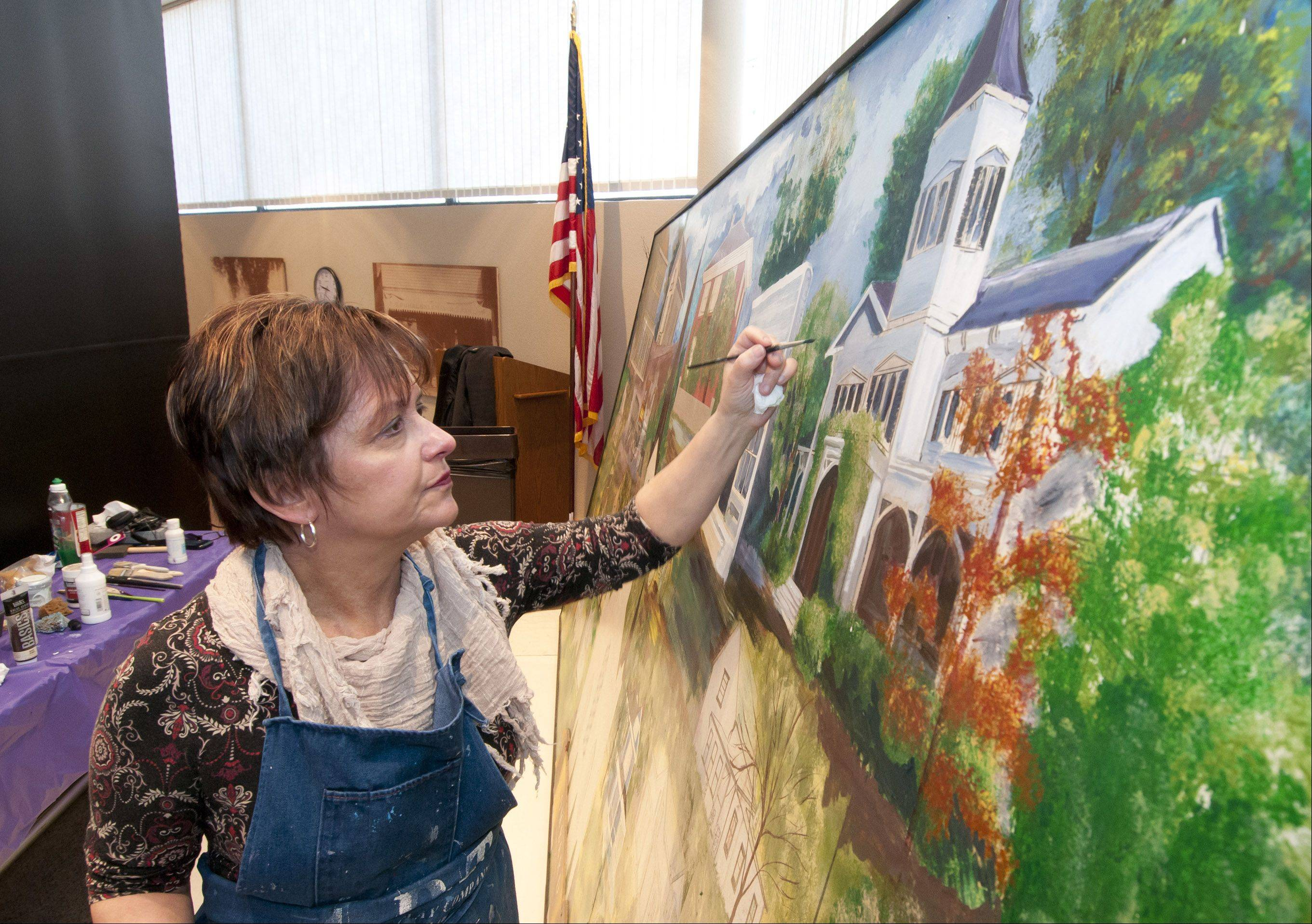 Lombard Trustee Laura Fitzpatrick's efforts to complete an unfinished piece by the late muralist Vern Milem have drawn criticism from one area artist who says she has no right to alter another person's work.
