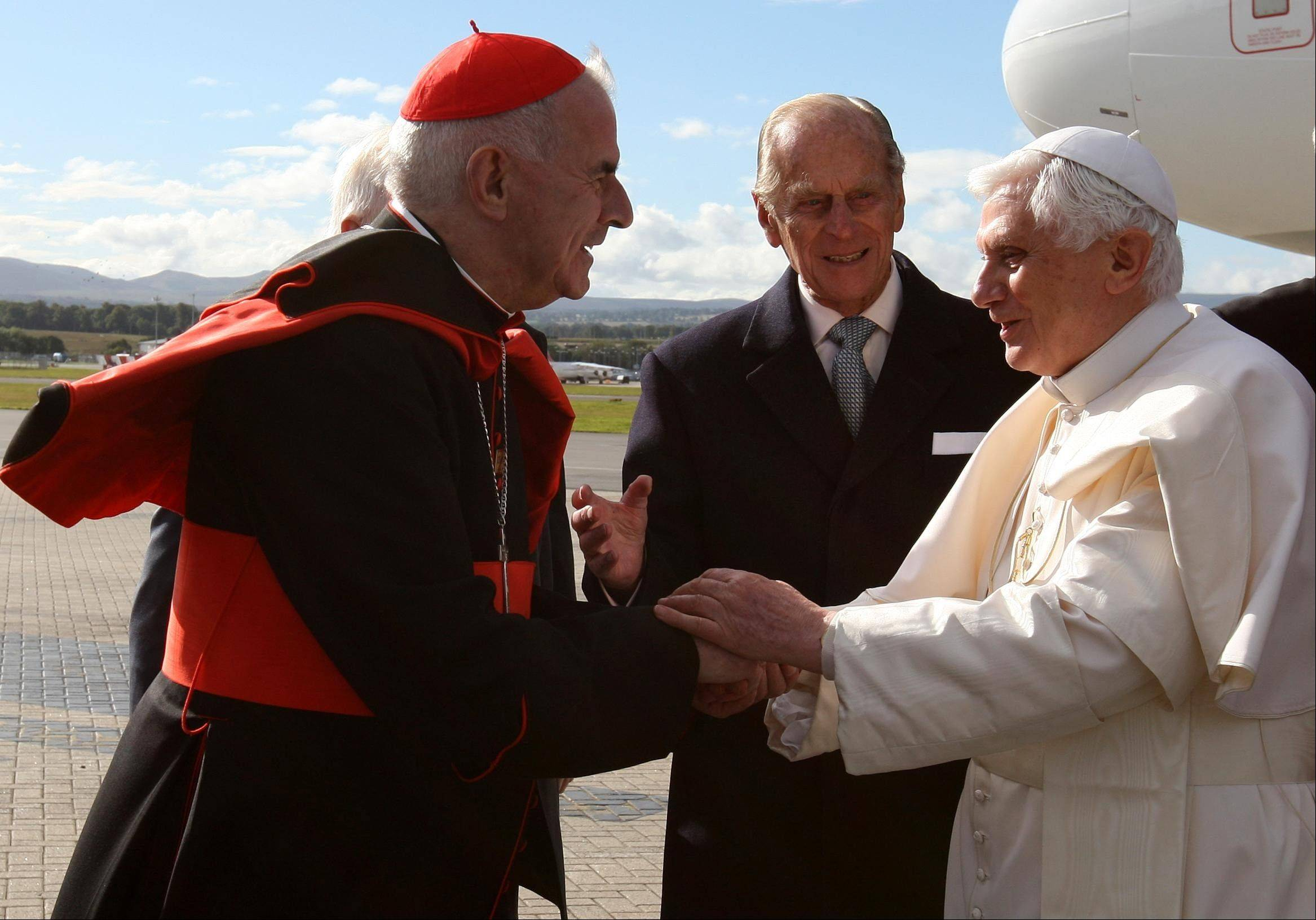 Cardinal Keith O�Brien, left, resigned Monday due to allegations of misconduct. He said he wouldn�t take part in the conclave to elect the next pope after being accused of improper conduct with priests.