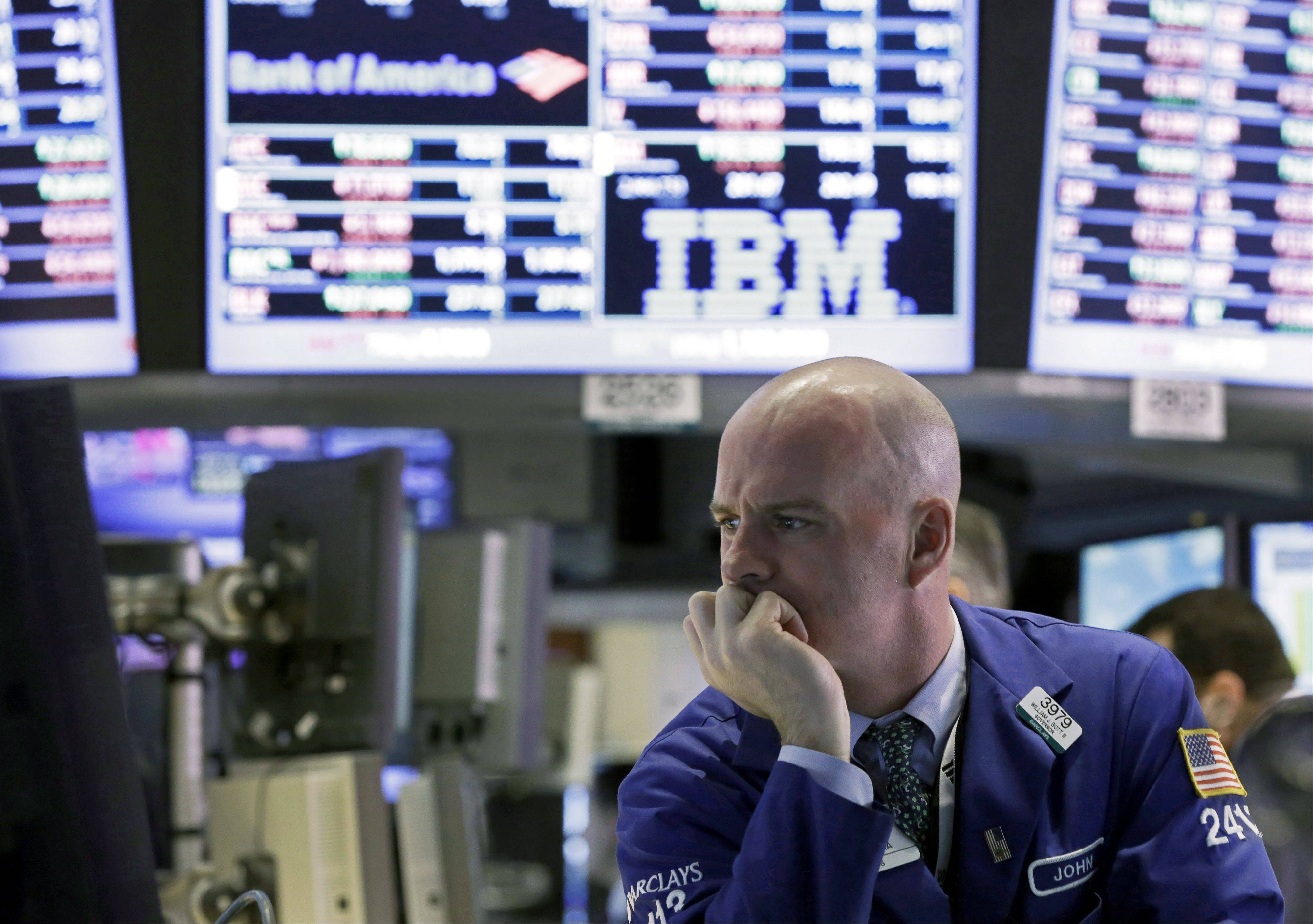 U.S. stocks fell, giving benchmark indexes their biggest losses since November, as partial election results spurred concern about prospects for a stable government in Italy and a worsening of Europe's debt crisis.