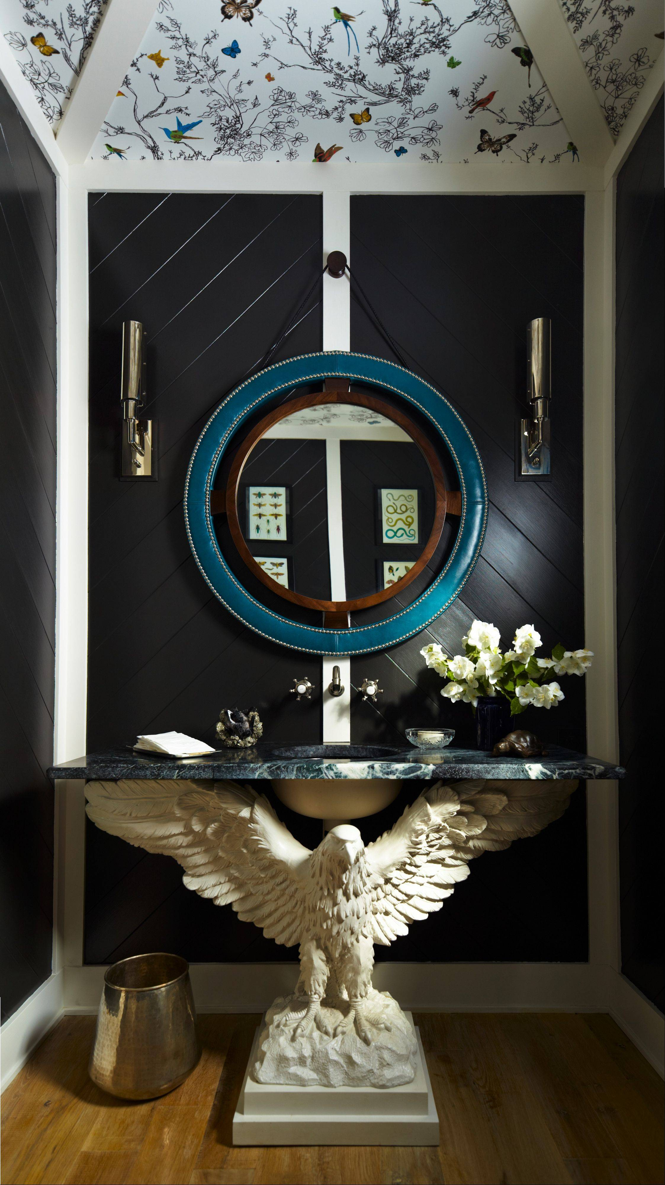 Thom Filicia went for drama in the powder room.