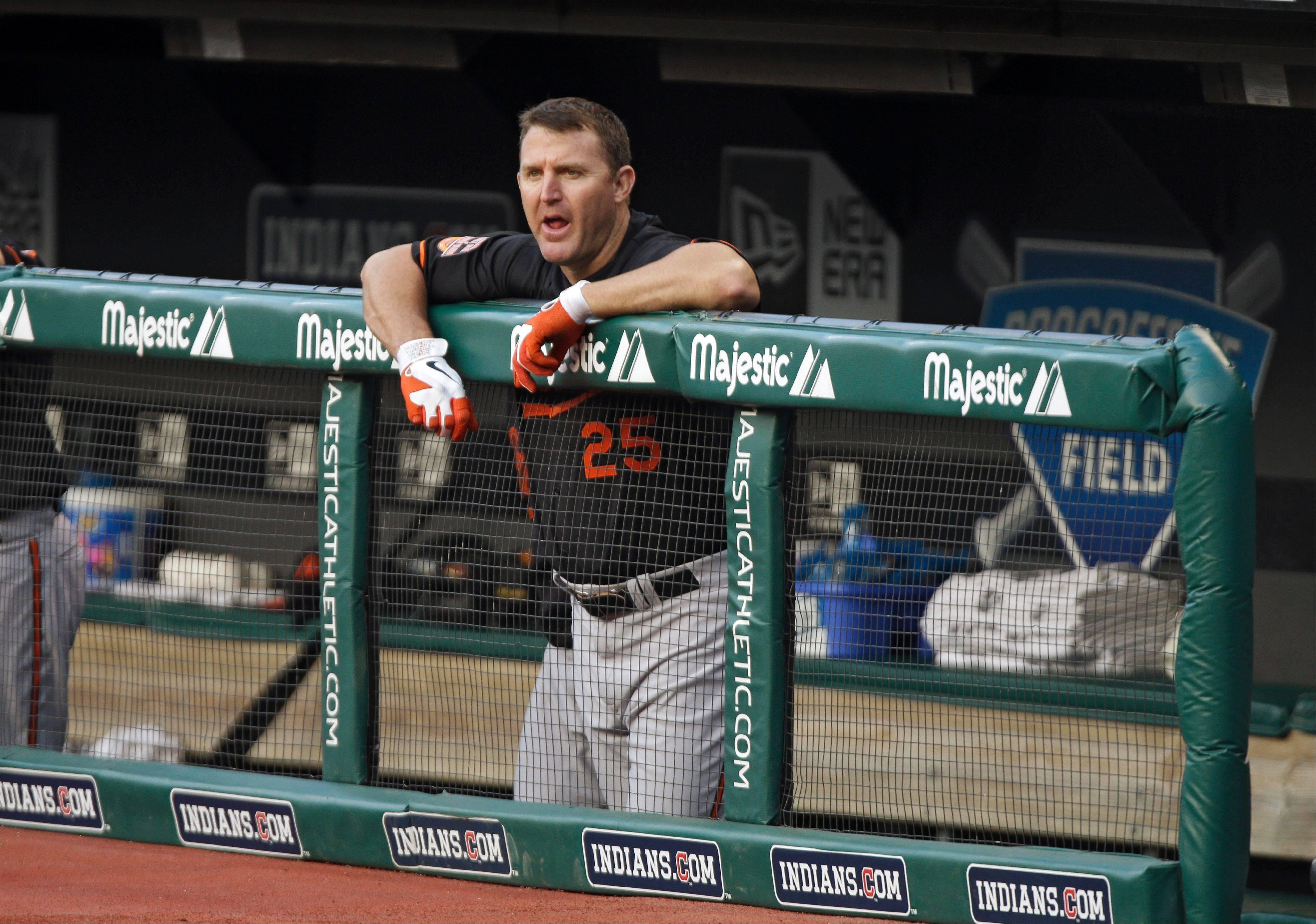 He finished the season with the Baltimore Orioles, but slugger Jim Thome doesn't have a team — yet. The 42-year-old former White Sox DH said he's staying in shape and waiting for a call.