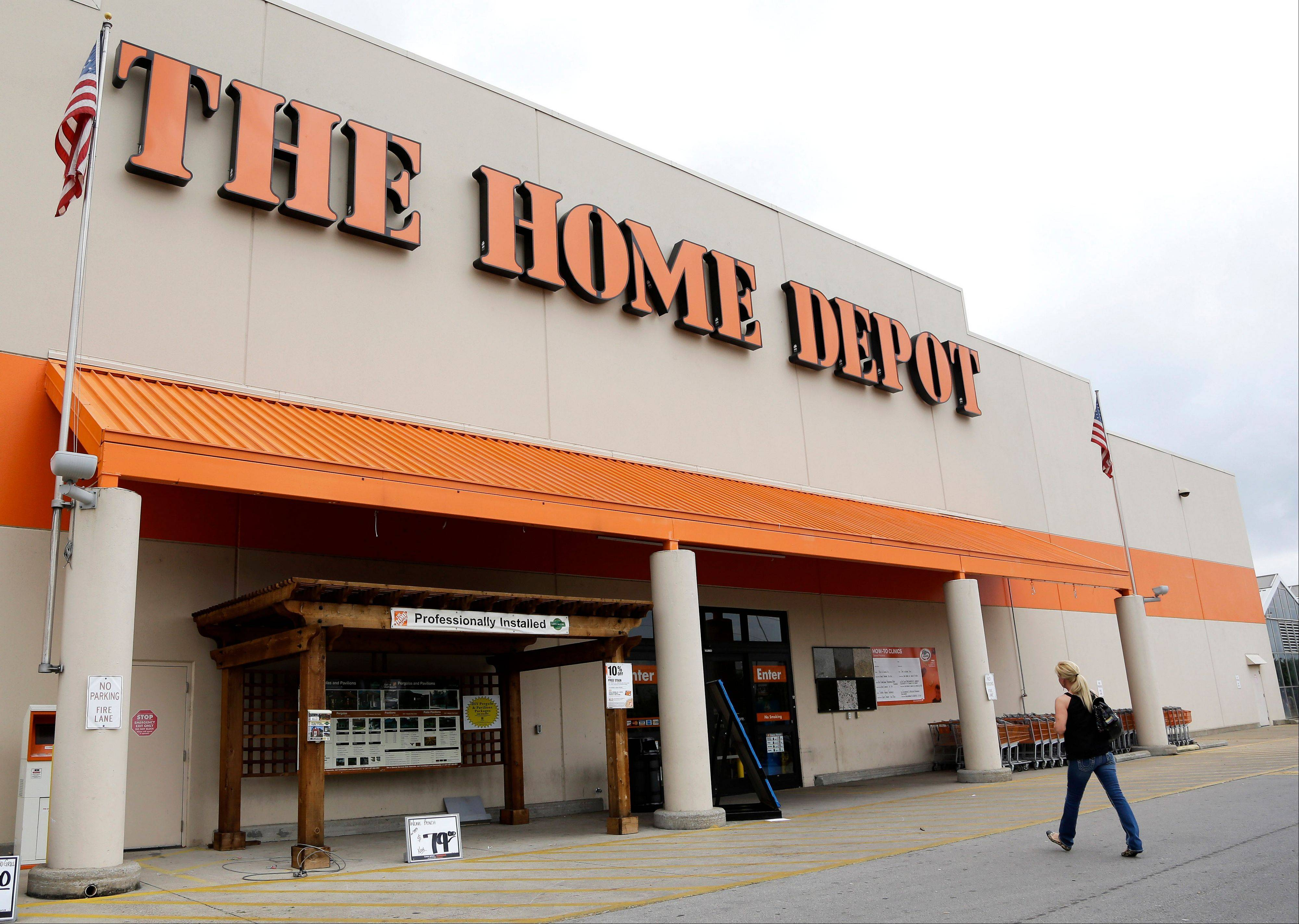 Home Depot Inc., the largest U.S. home improvement retailer, said Tuesday its fiscal fourth-quarter net income surged 32 percent, beating expectations, helped by strong U.S. sales and the cleanup related to Superstorm Sandy. This follows smaller rival Lowe's Cos. results Monday, which also beat expectations.