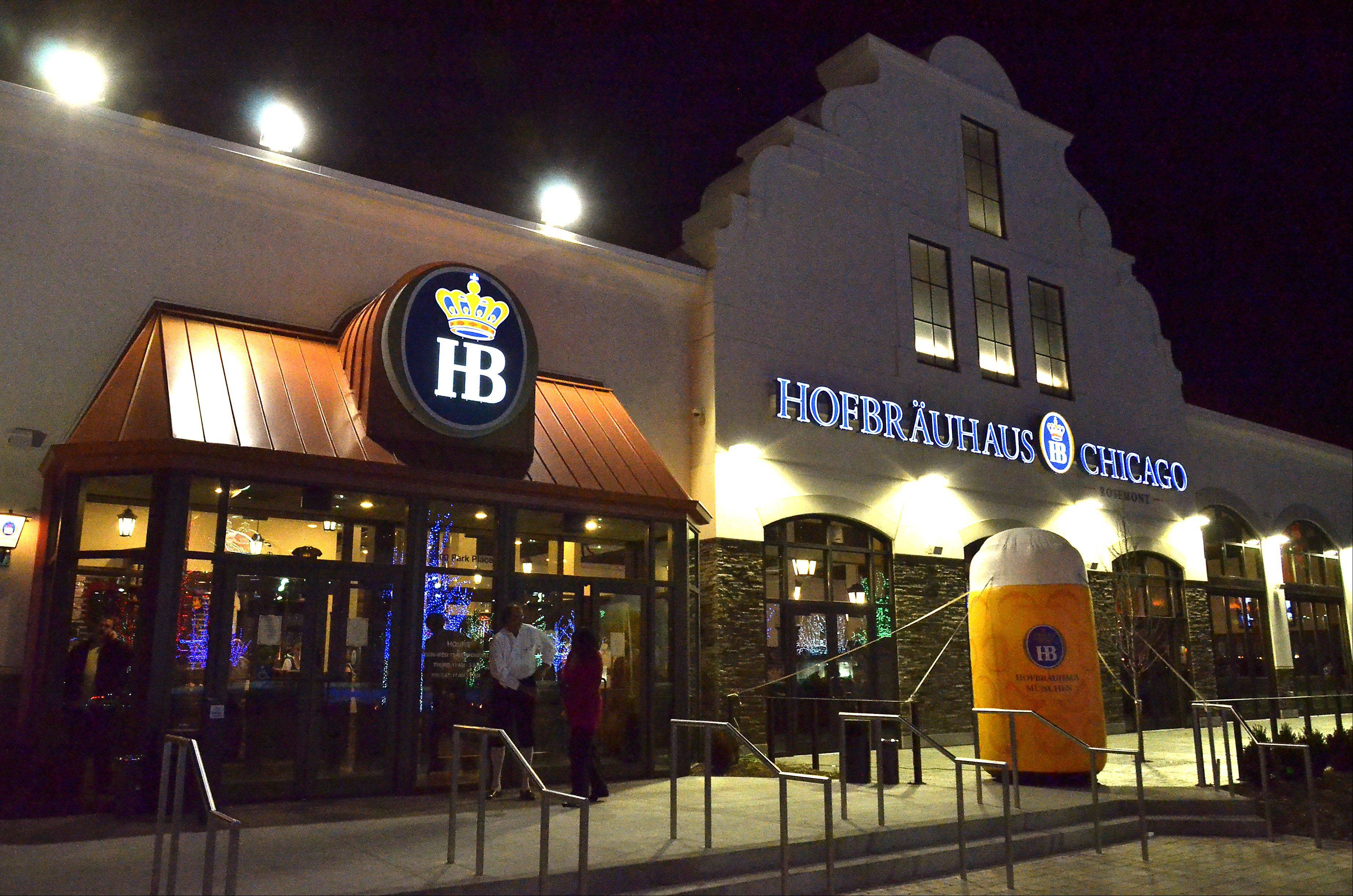 The new Hofbrauhaus Chicago in Rosemont will seat 700 inside and 300 in the outdoor beer garden.
