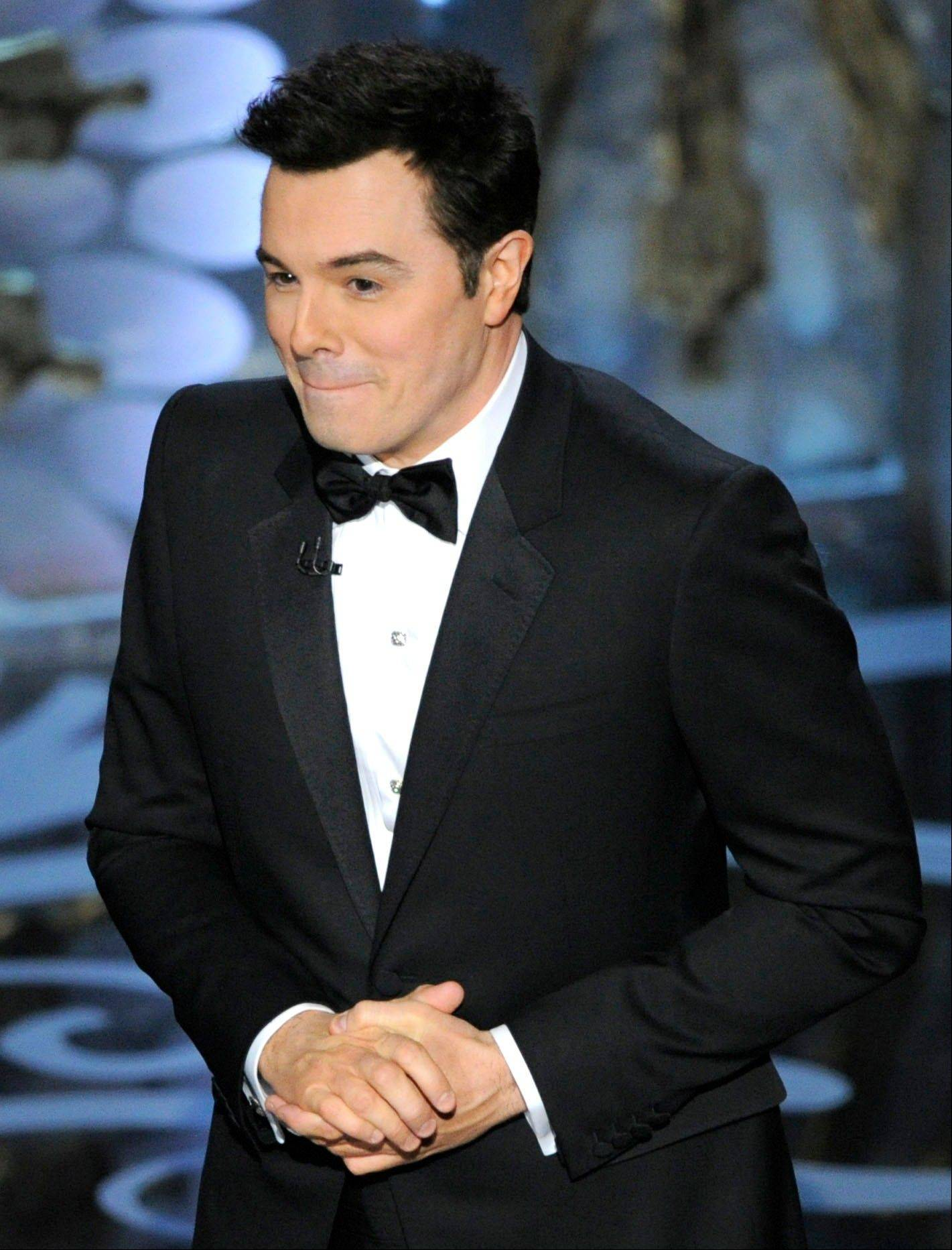 Seth MacFarlane drew larger audiences to the Oscars Sunday, but says he probably won't return as host.