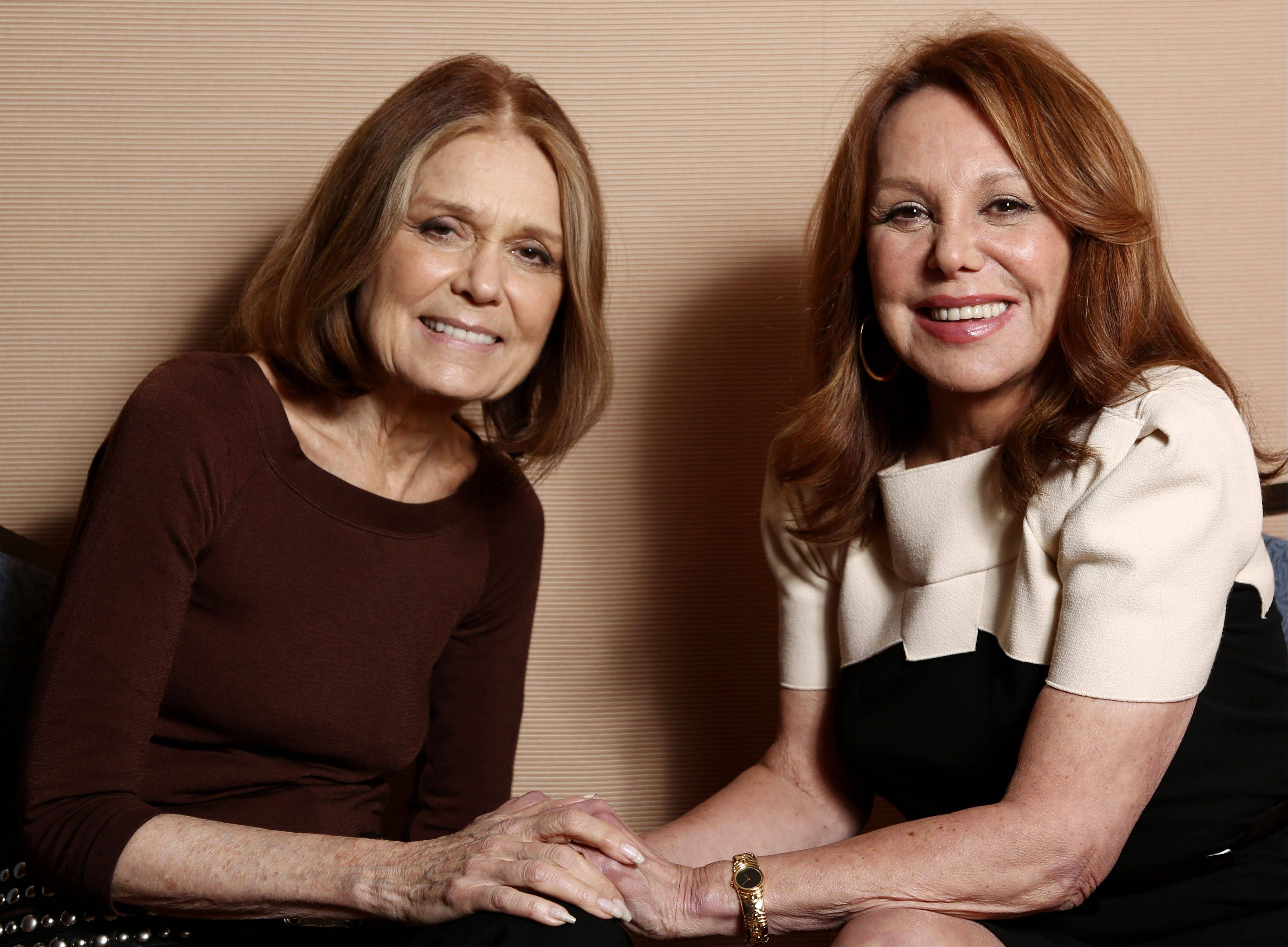 "Gloria Steinem, left, and Marlo Thomas, from the program ""Makers: Women Who Make America,"" a three-hour PBS documentary about the fight for women's equality airing Tuesday."