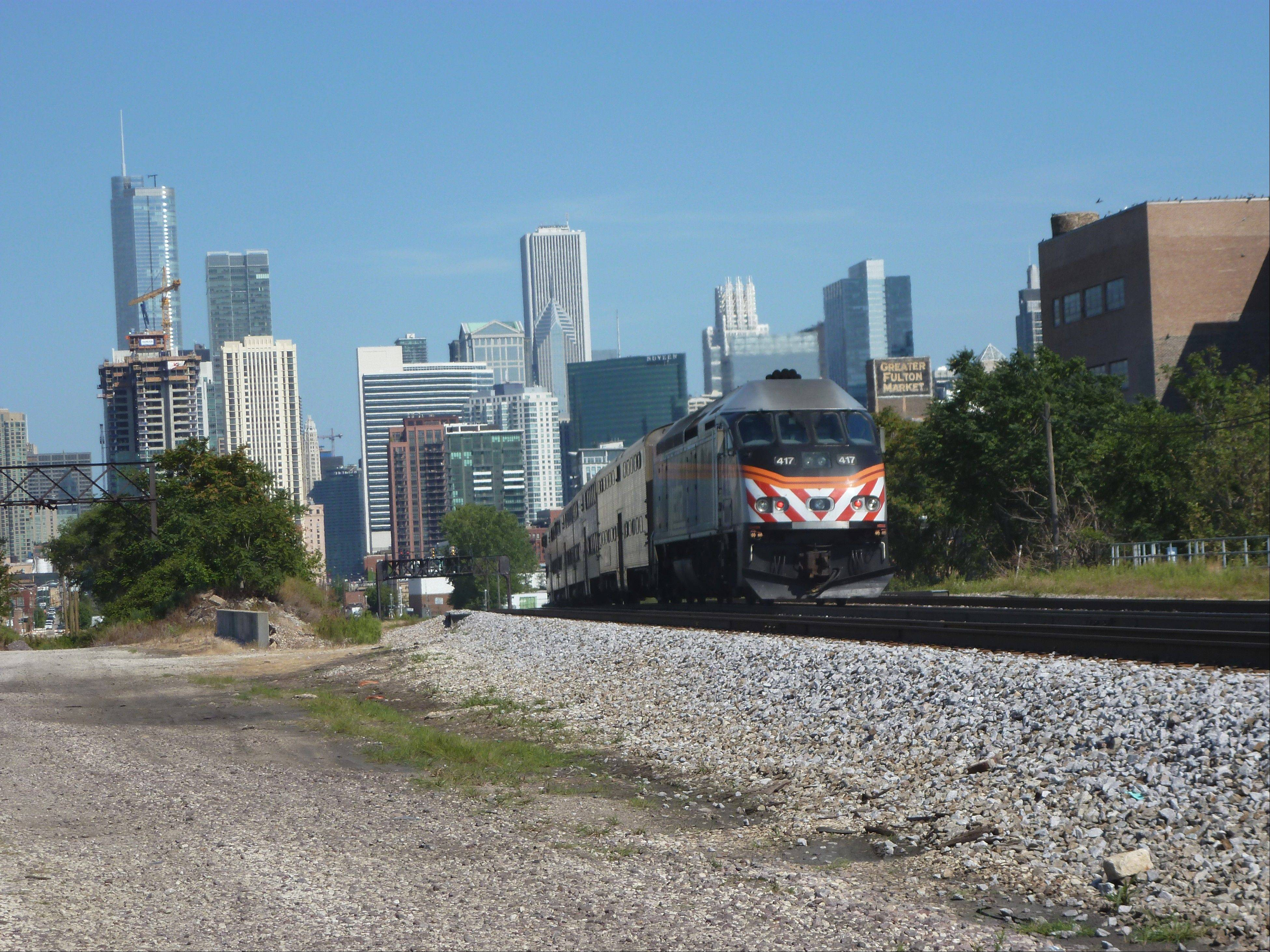 If you're starting in the suburbs, you can ditch the car and take Metra to the city for your staycation.