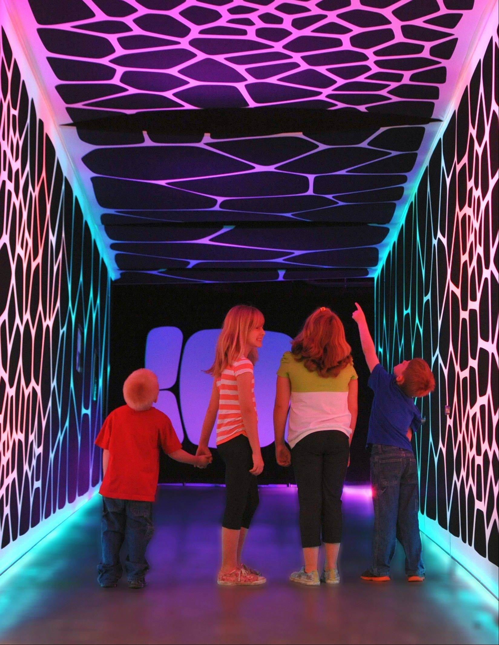 "Children explore ""The Universe: A Walk through Space and Time"" exhibition."