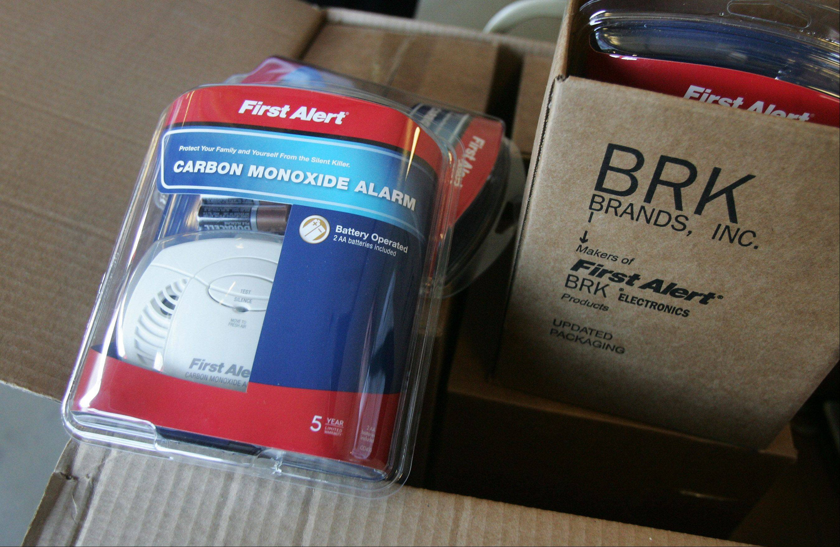 North Shore Gas donated the First Alert carbon monoxide detectors to the Mundelein and Grayslake fire departments on to be given to residents in need.