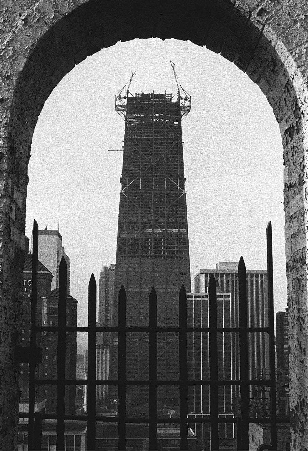 One of the assignments Tom enjoyed was photographing the Hancock building going up in Chicago in April 1968.