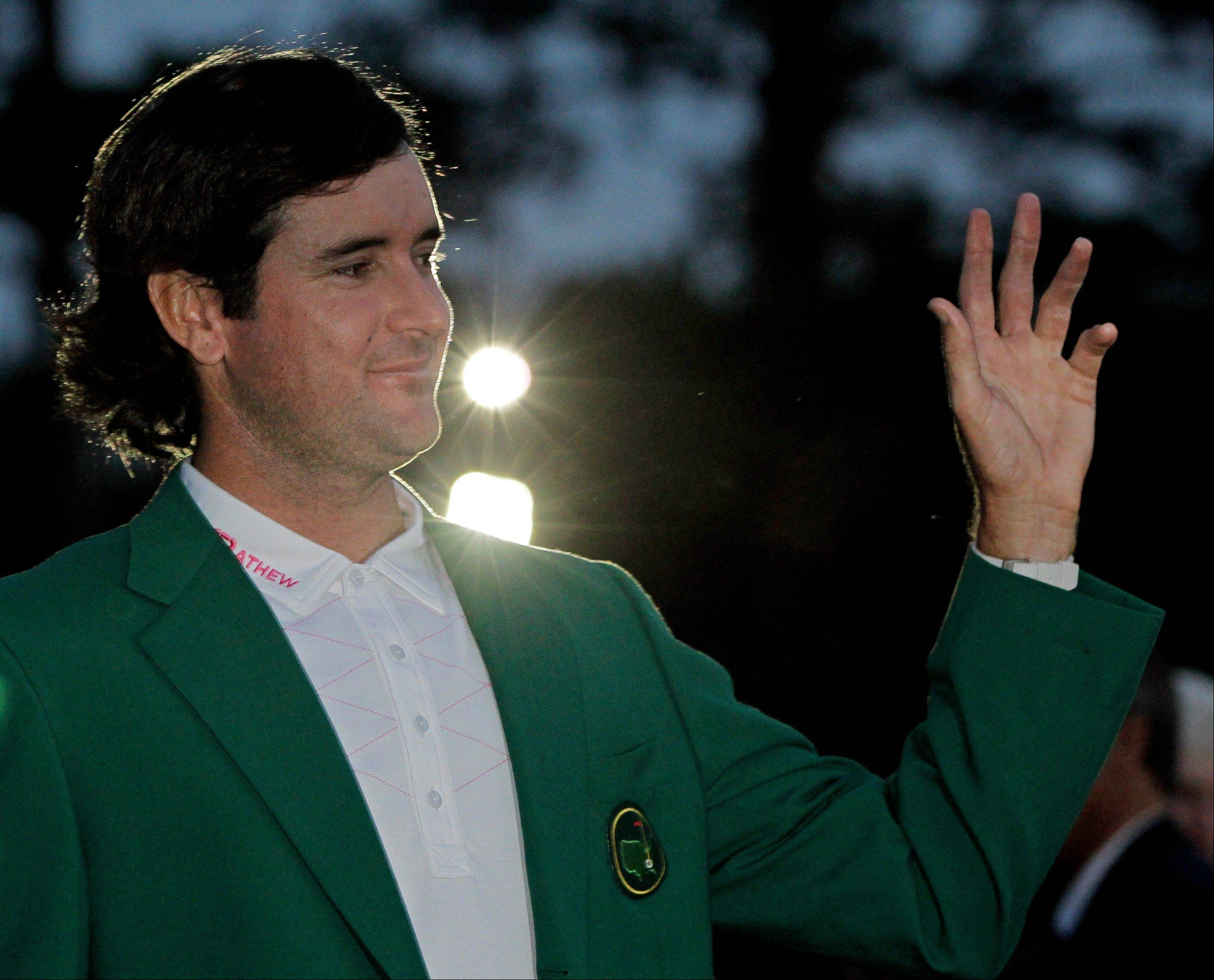 Bubba Watson, who won the green jacket at the 2012 Masters in a sudden-death playoff, also won the admiration of a caddie's wife when he made good on a bet.
