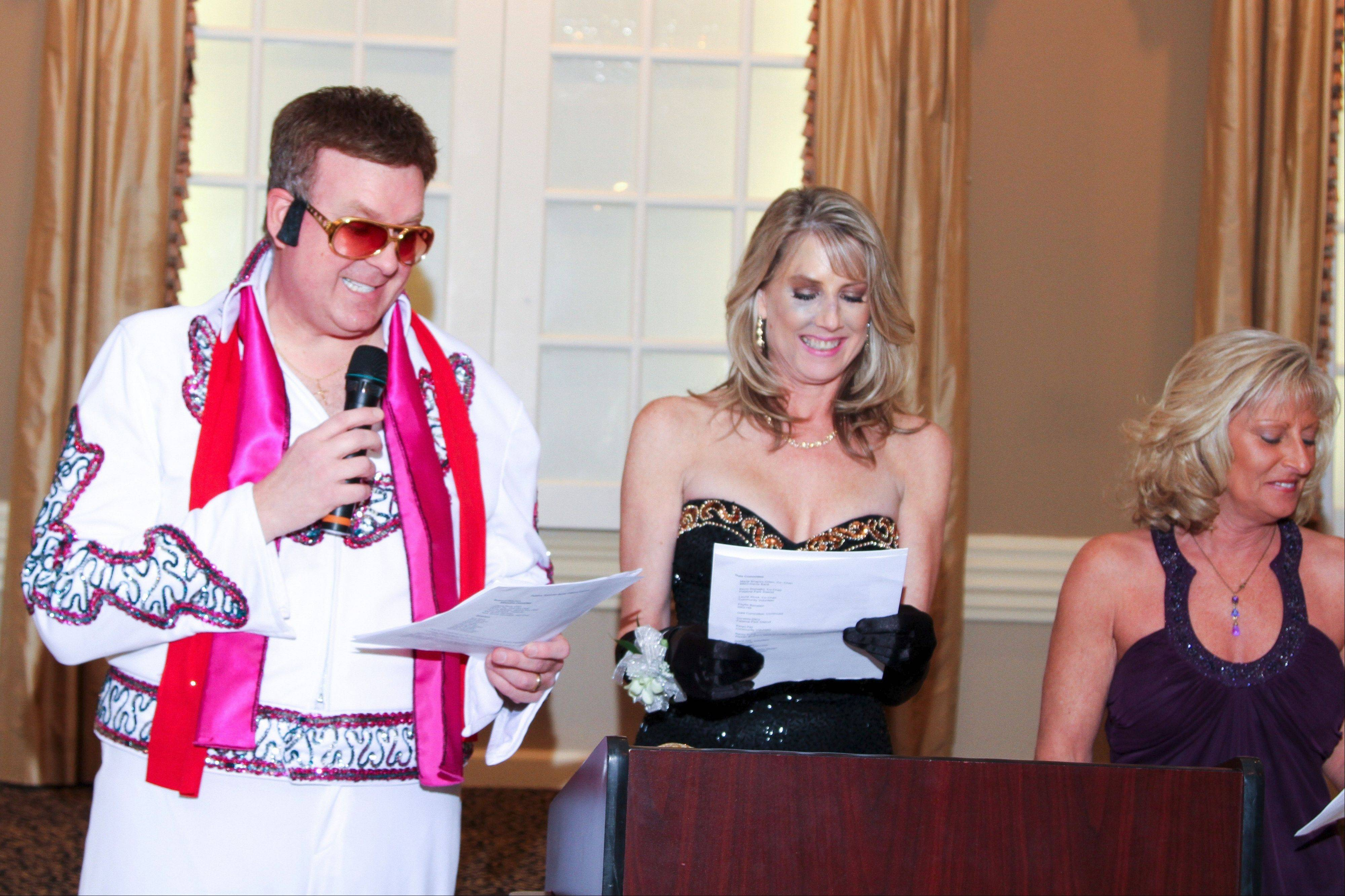 Co-chairs for the Palatine Township Senior Citizens Council's 40th annual gala were Kevin Romejko, who also entertained as Elvis, Laurie Stock and Maria Shapiro-Gillen.