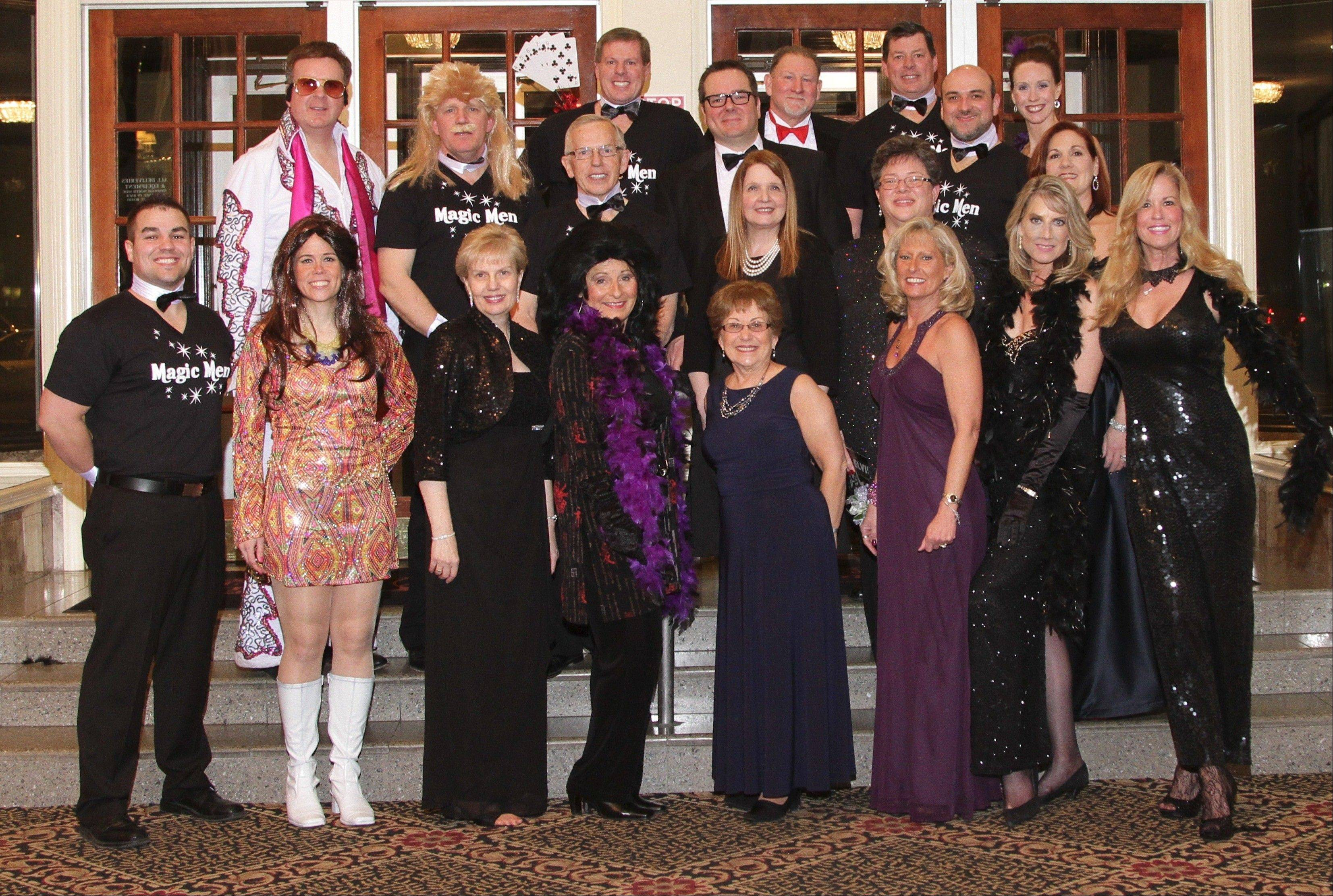 The Las Vegas Revue cast provided some of the most memorable entertainment of the evening at the Palatine Township Senior Citizens Council's 40th annual gala.