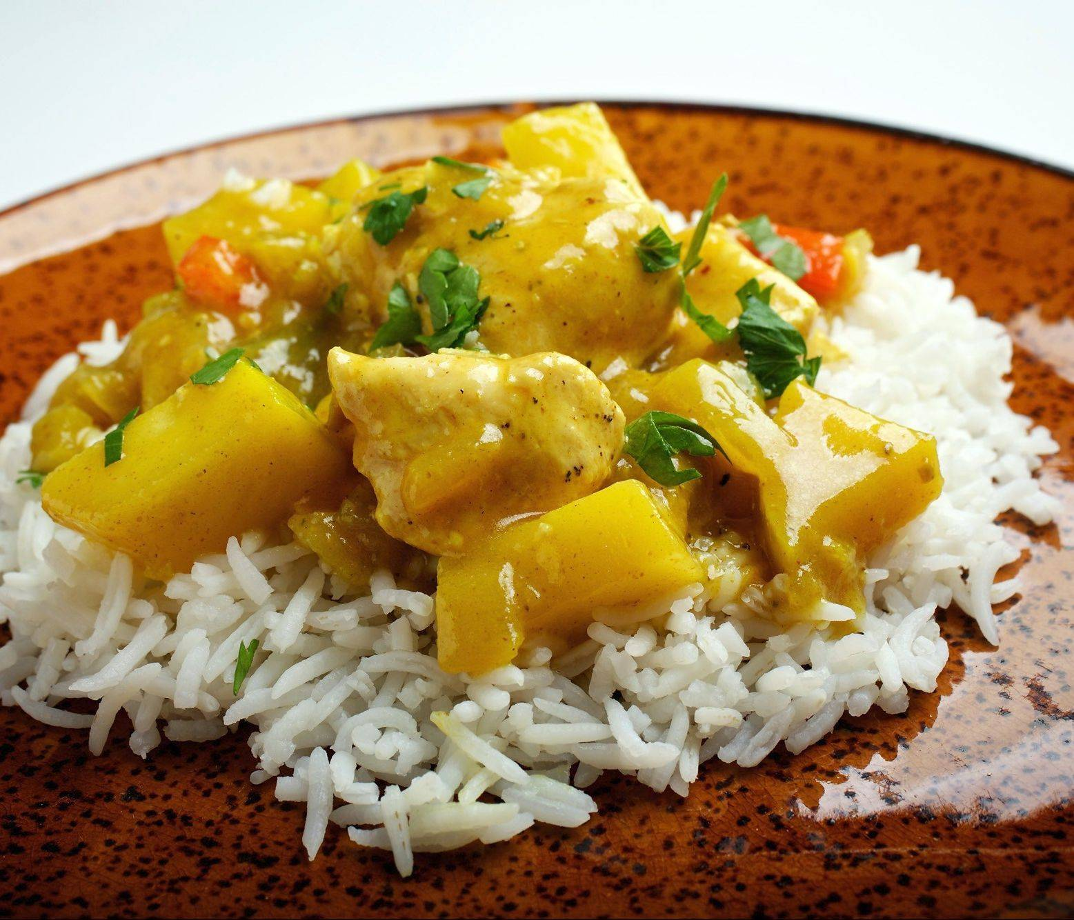 Sweet Apple Chicken Curry has a pleasant balance of textures and flavors.