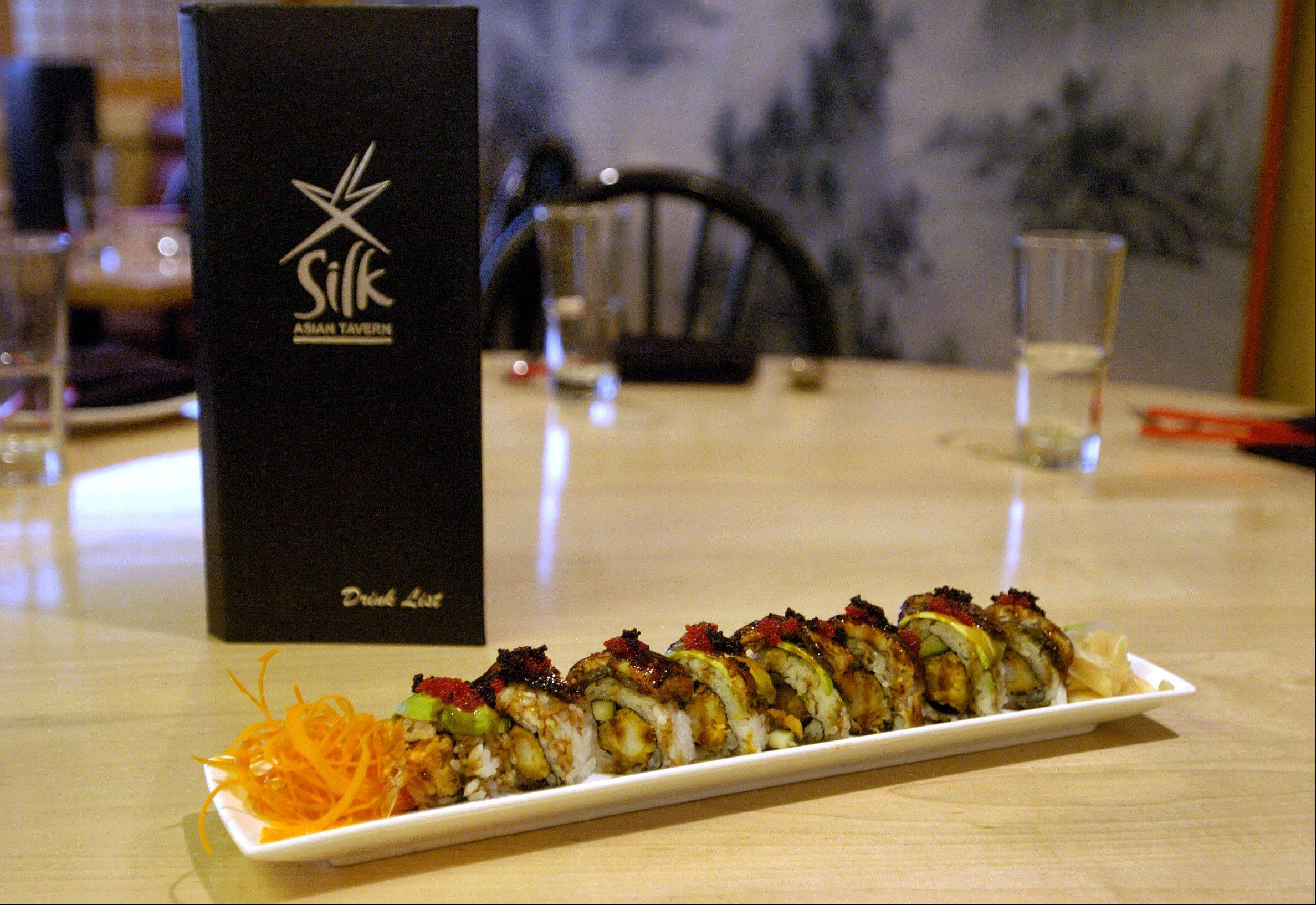 Unagi Maki at Silk Asian Tavern in Vernon Hills.