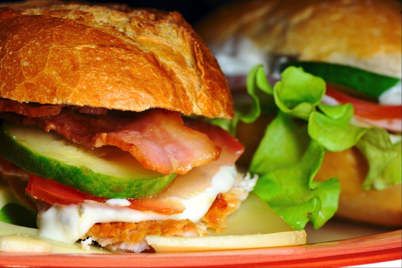 This sandwich plus a drink plus dessert equals $9 at Artisan Table during lunch.