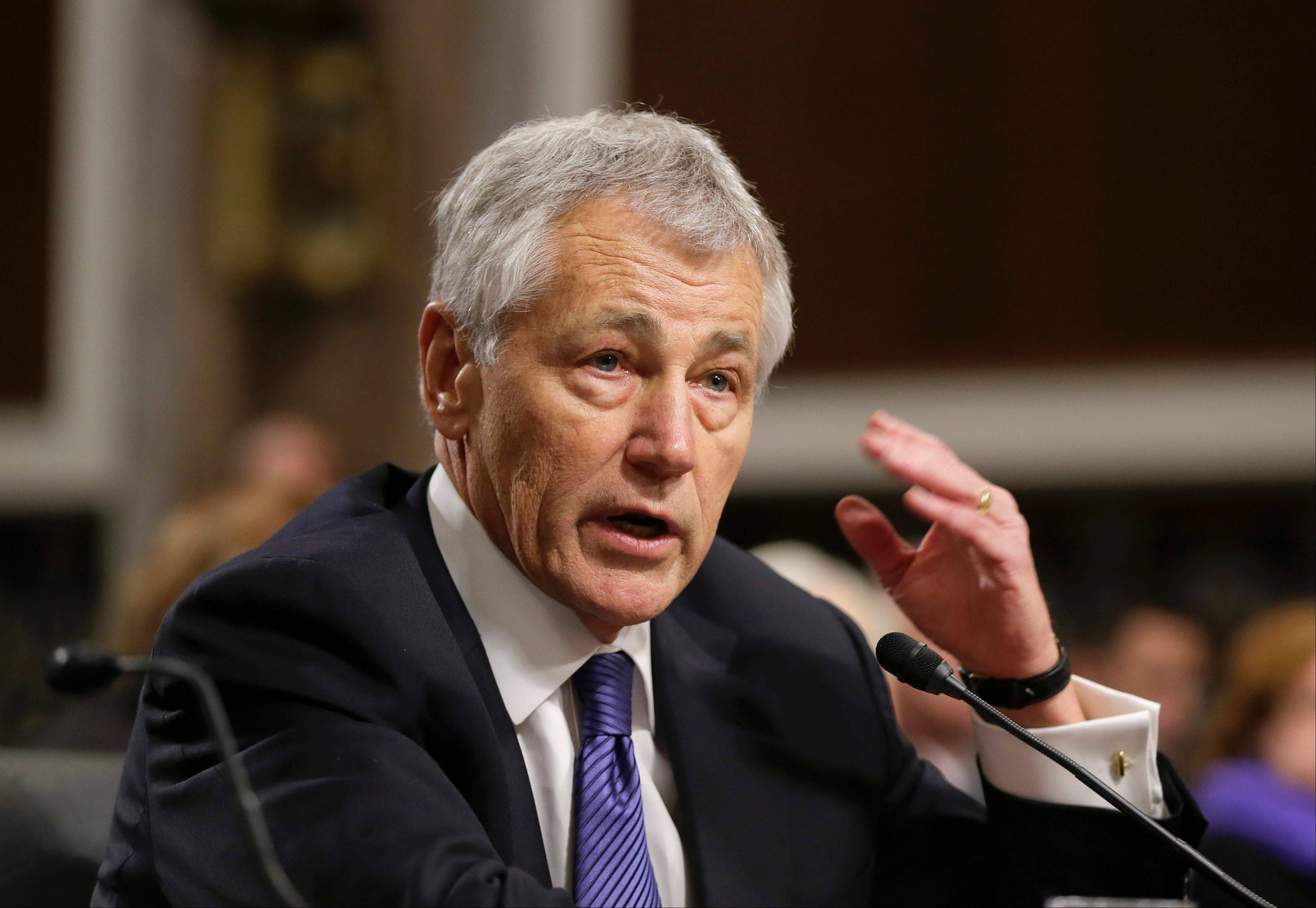 Chuck Hagel is expected to be sworn in as secretary of defense Wednesday and is likely to address the staff in his first day as defense secretary.