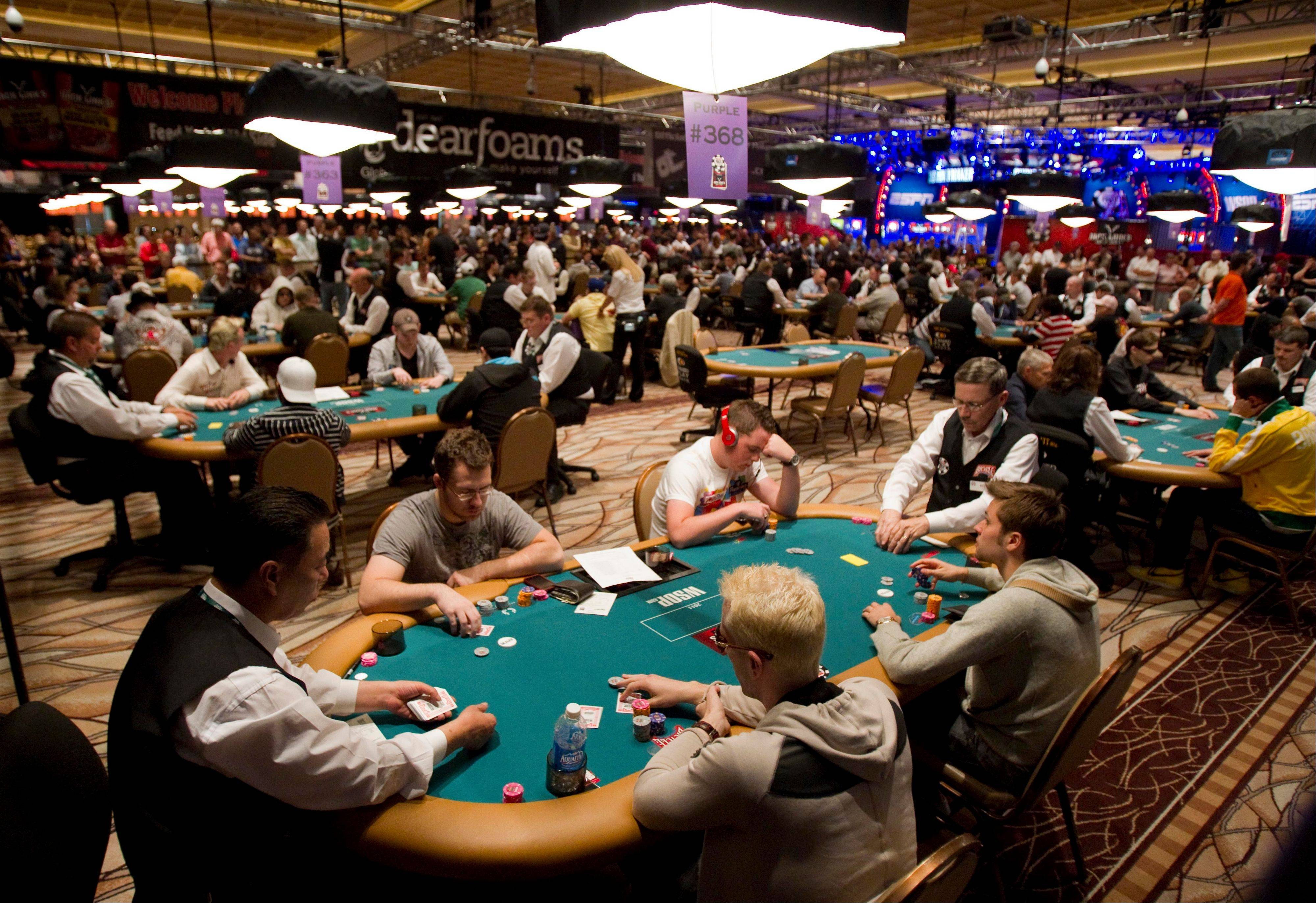 At the height of the poker fad, Las Vegas couldn't get enough of poker rooms. Now some of those rooms are folding. Four casinos yanked their poker tables last year, including the Tropicana, and three other rooms closed shop in 2011.