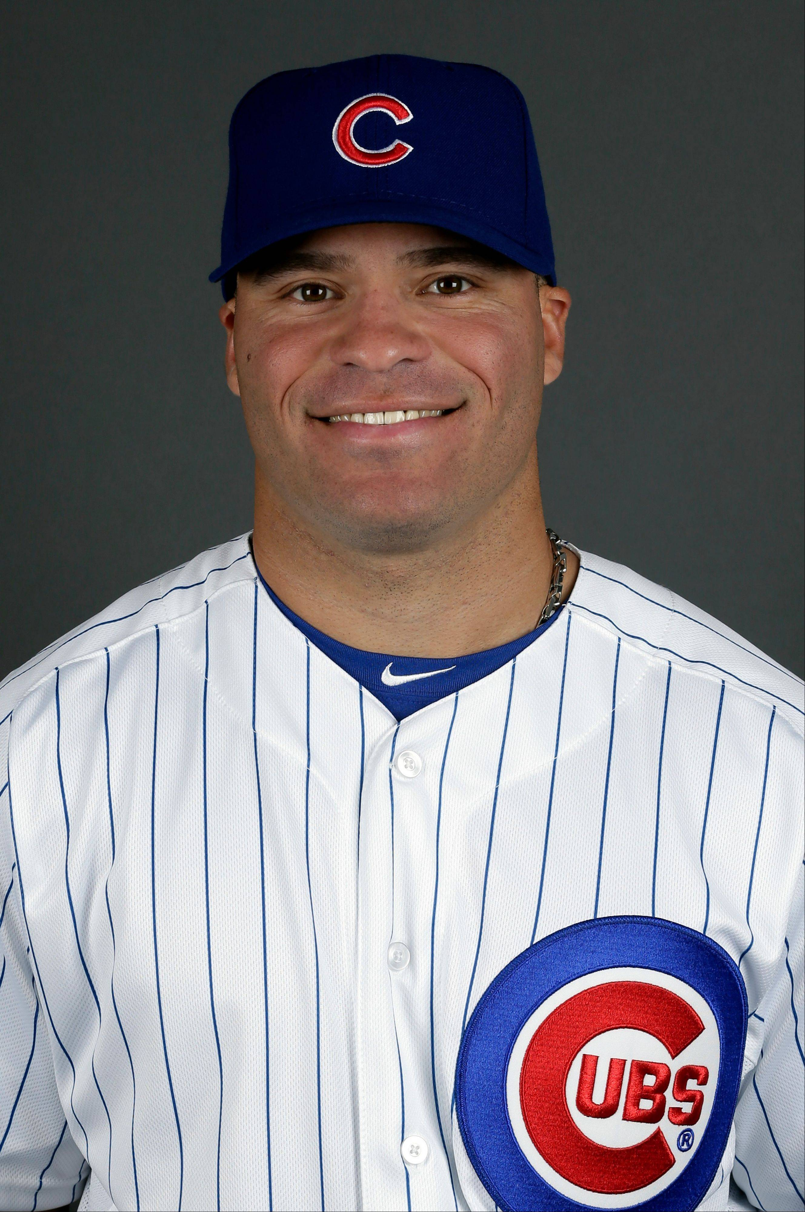 This is a 2013 photo of Scott Hairston of the Chicago Cubs baseball team. This image reflects the Cubs active roster as of Monday, Feb. 18, 2013. (AP Photo/Morry Gash)
