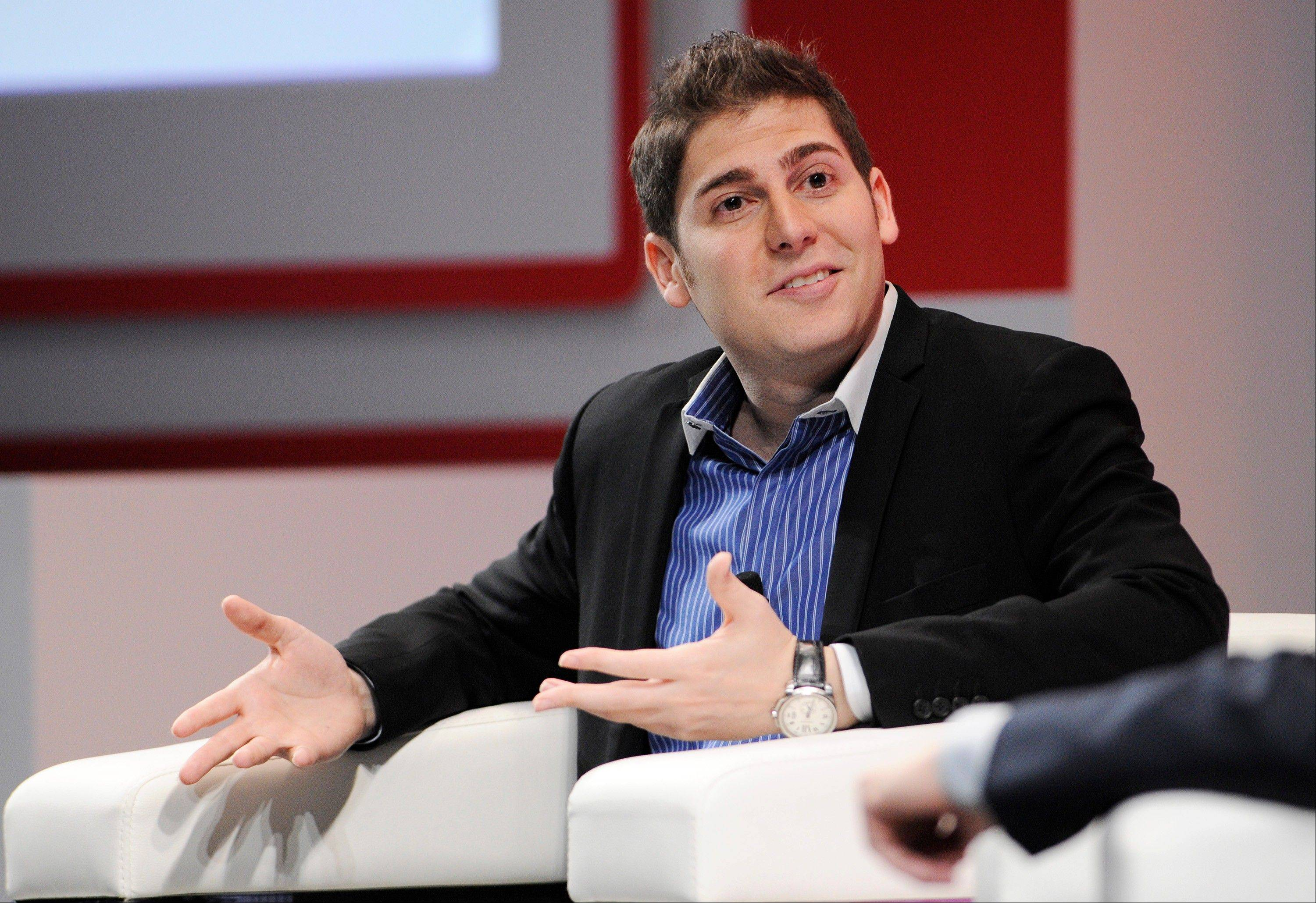 Eduardo Saverin, co-founder of Facebook Inc., speaks during a Wall Street Journal event in Singapore last Thursday.