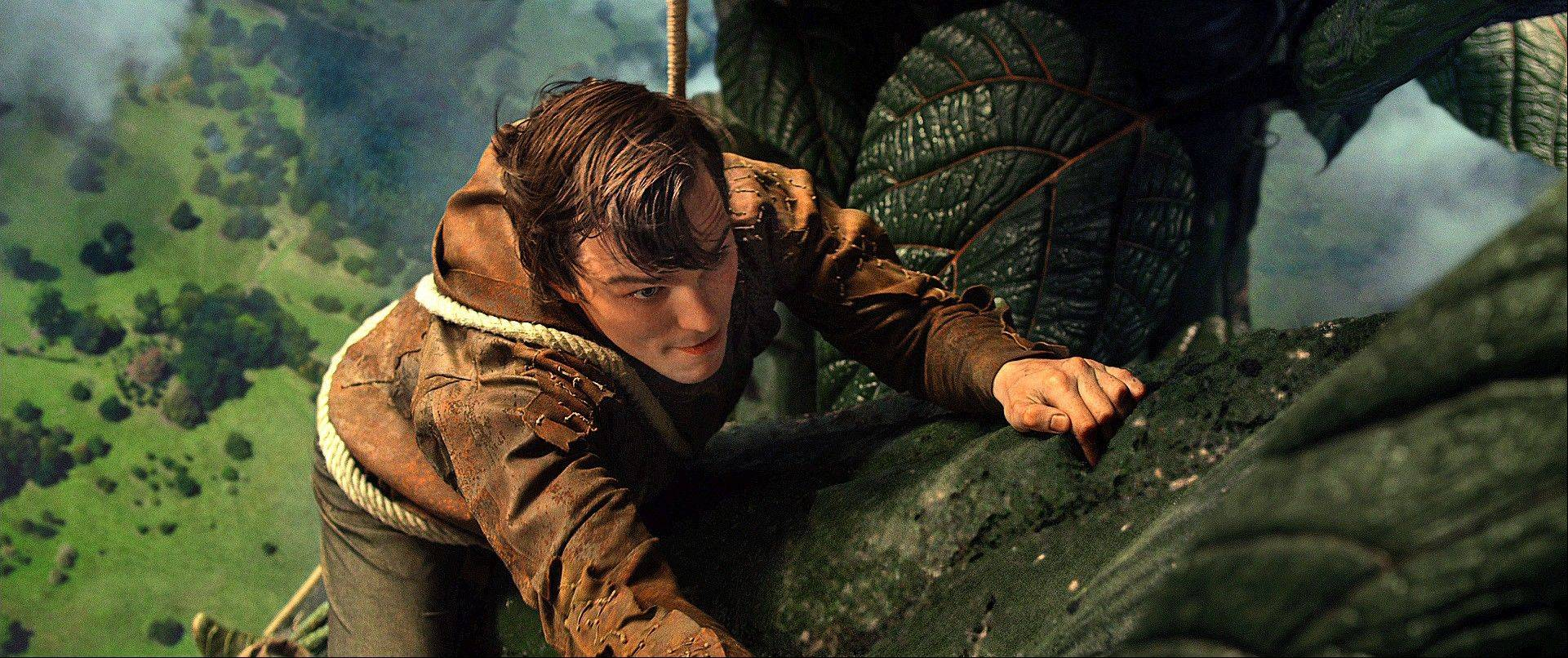 "Jack (Nicholas Hoult) climbs a mountain to save a princess in Bryan Singer's ""Jack the Giant Slayer."""