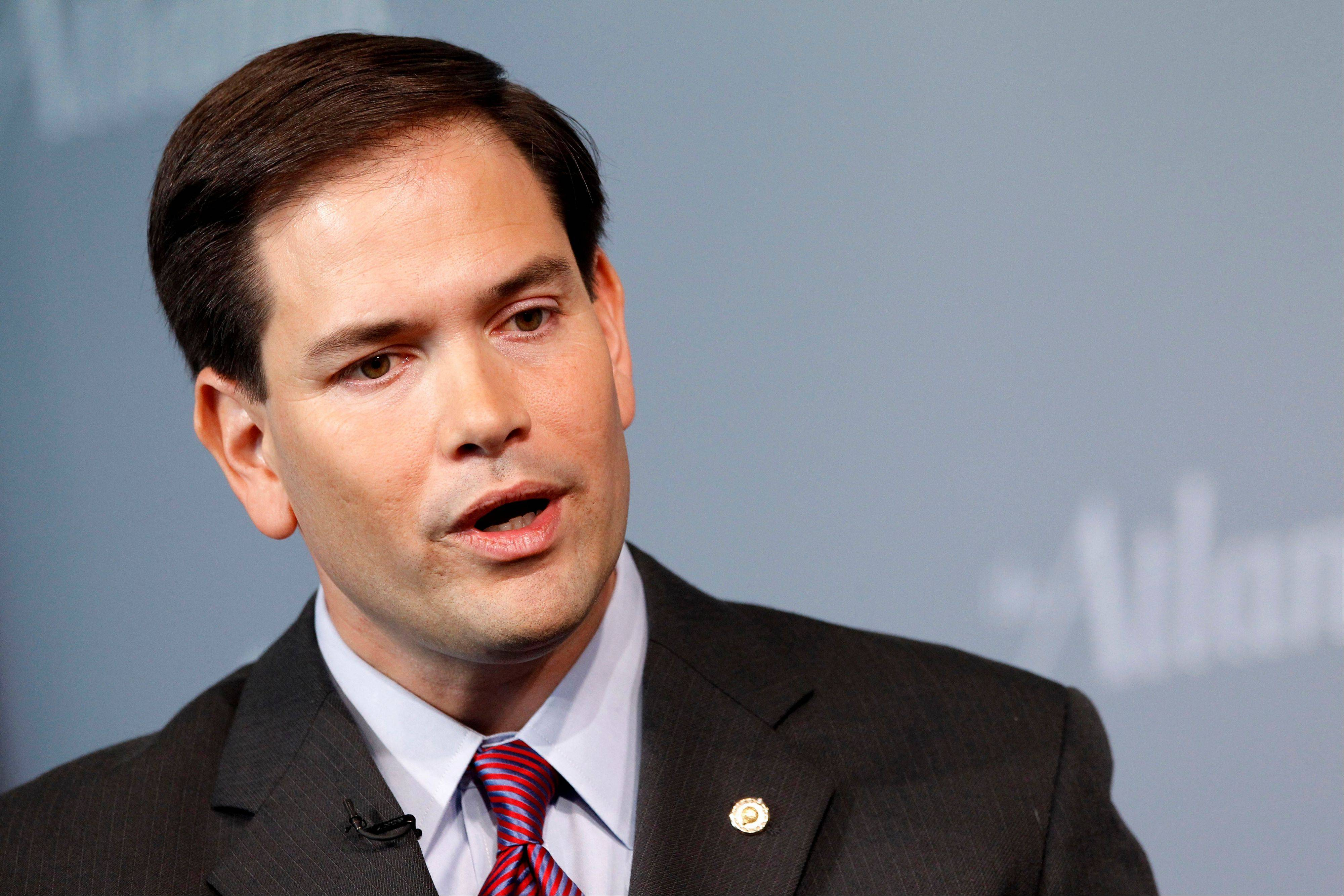 "Of the automatic spending cuts that will kick in today, Tea Party favorite Sen. Marco Rubio, a Florida Republican, said ""I think it's a crazy idea. The only thing crazier than sequester is to walk away from the cuts that it guarantees."""