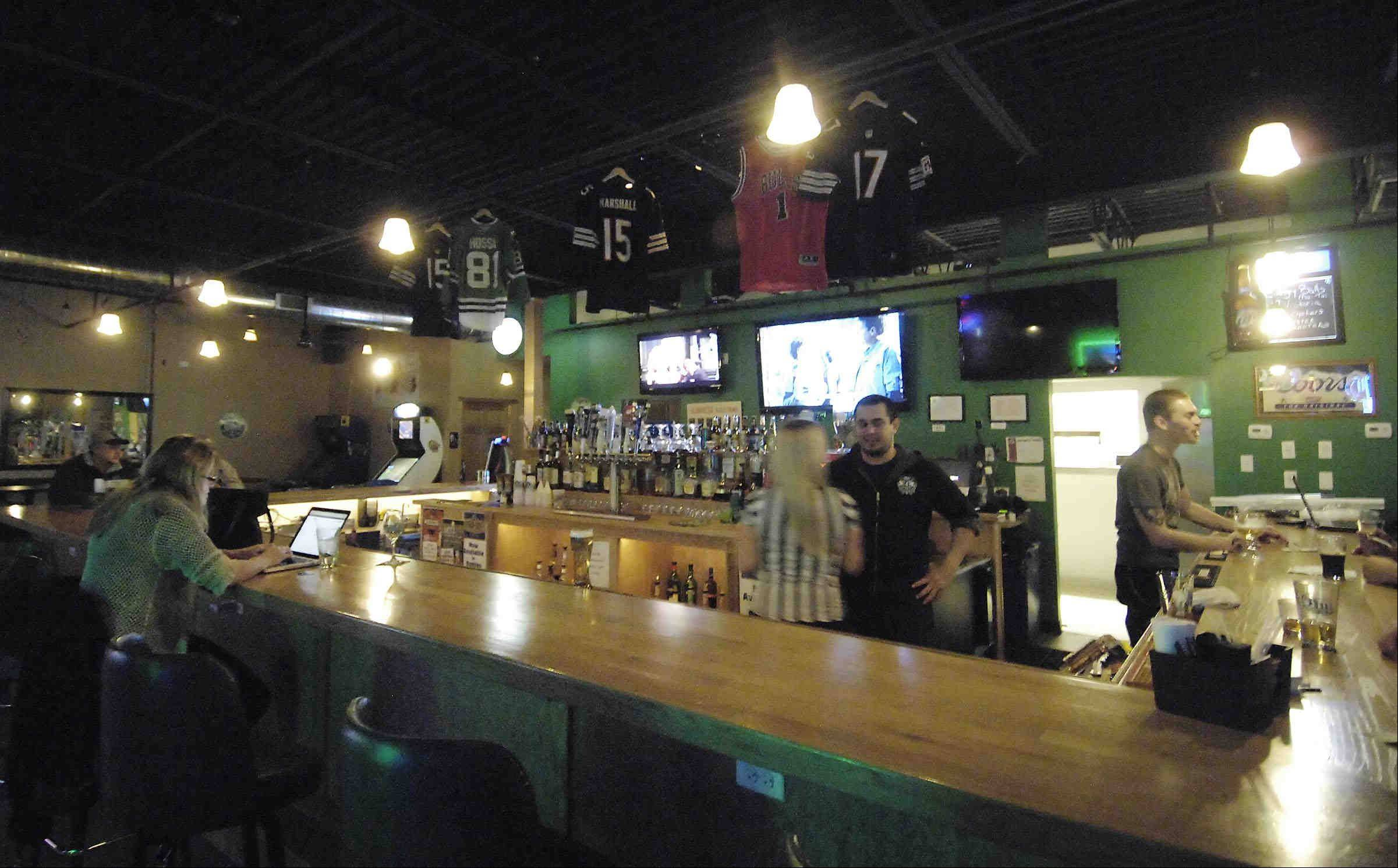 Catch a game and then stick around for some live music at McGruder's Irish Pub in Elgin.