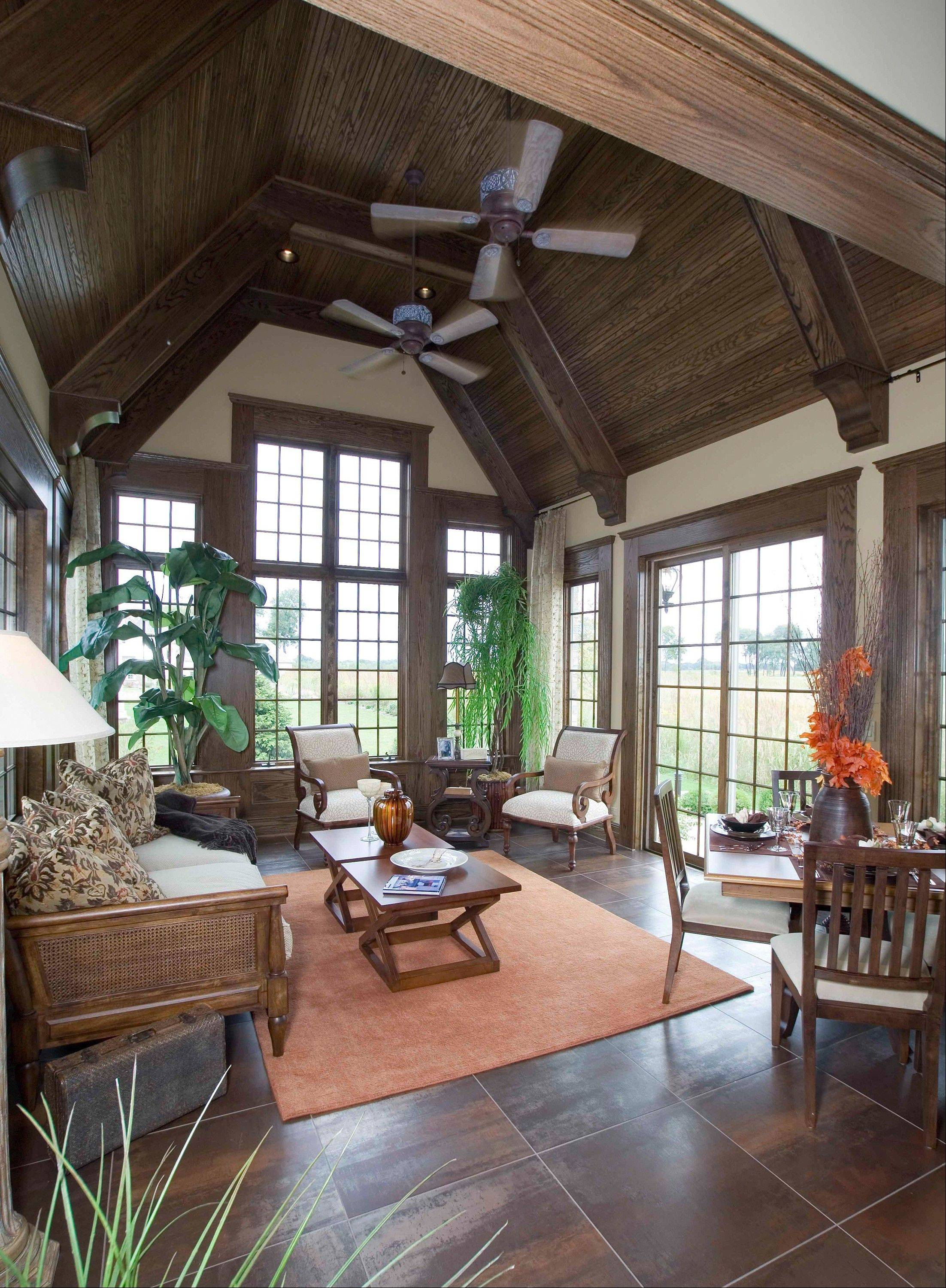 Sun rooms and morning rooms are cozy spaces off the kitchen where homeowners enjoy much natural light.