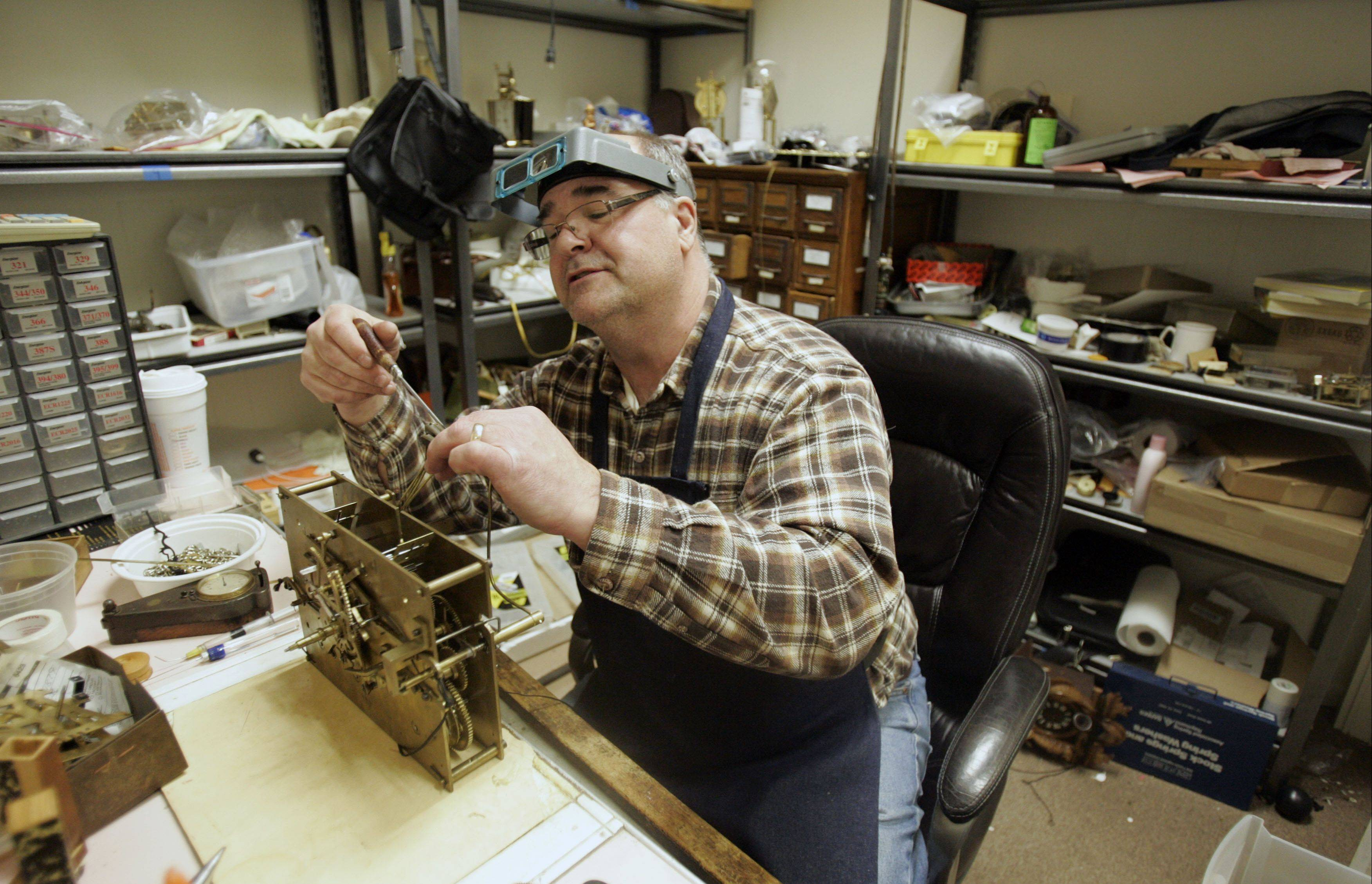 """I still love it,"" Krantz says about taking an old piece apart and making it work again. ""It really is tedious work, if you do it right, but I think most people appreciate it."""