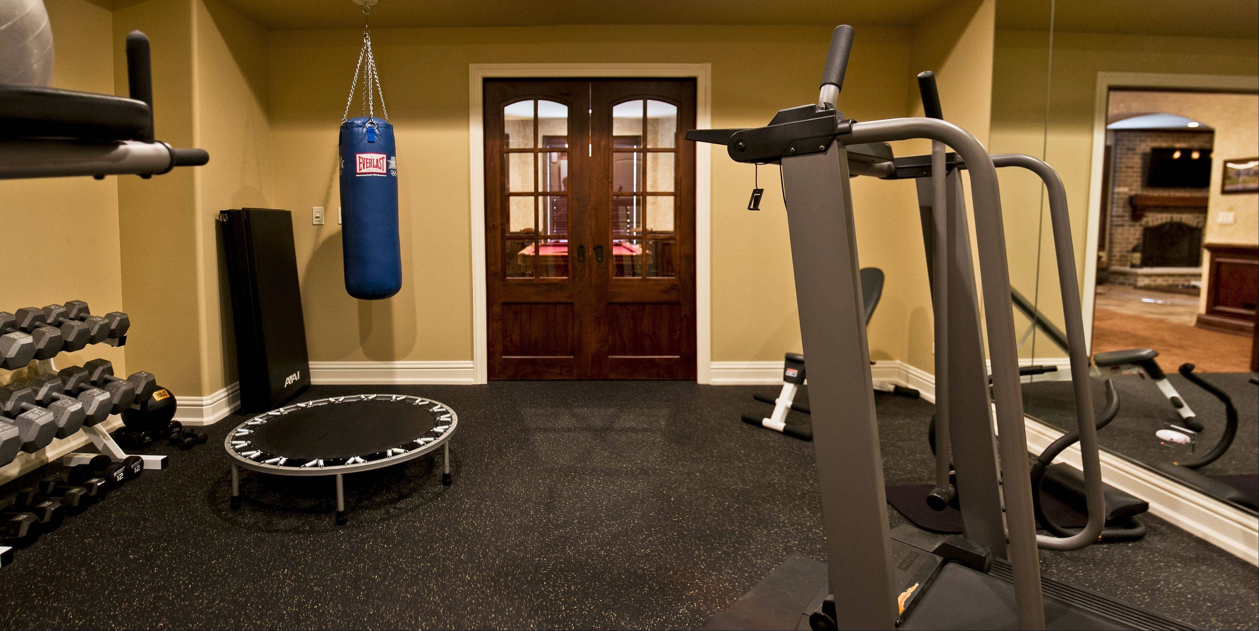 Specialty flooring, electrical wiring and added sound insulation are common for fitness rooms.