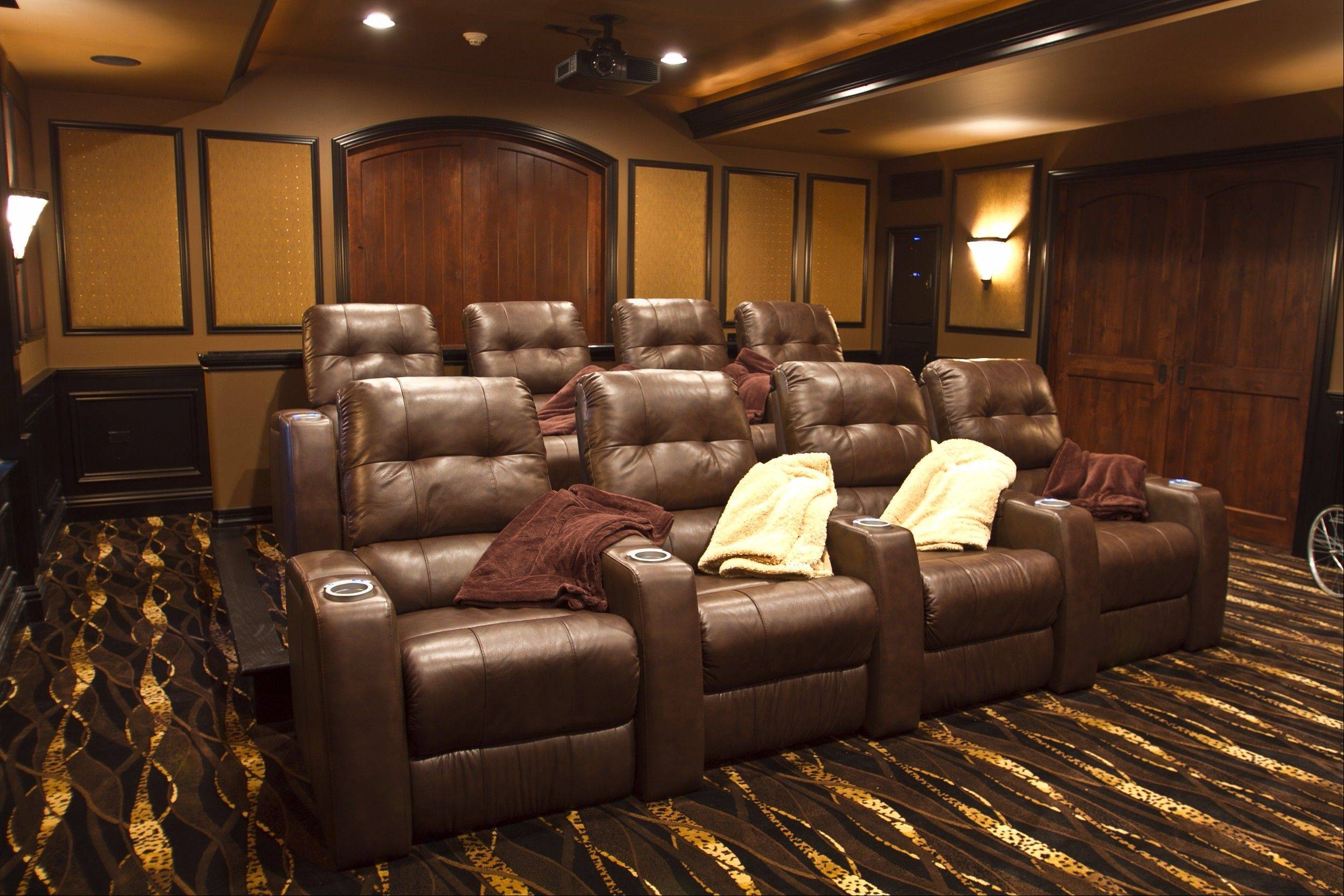 A home theater is a very common specialty room requested when people build their own custom homes.