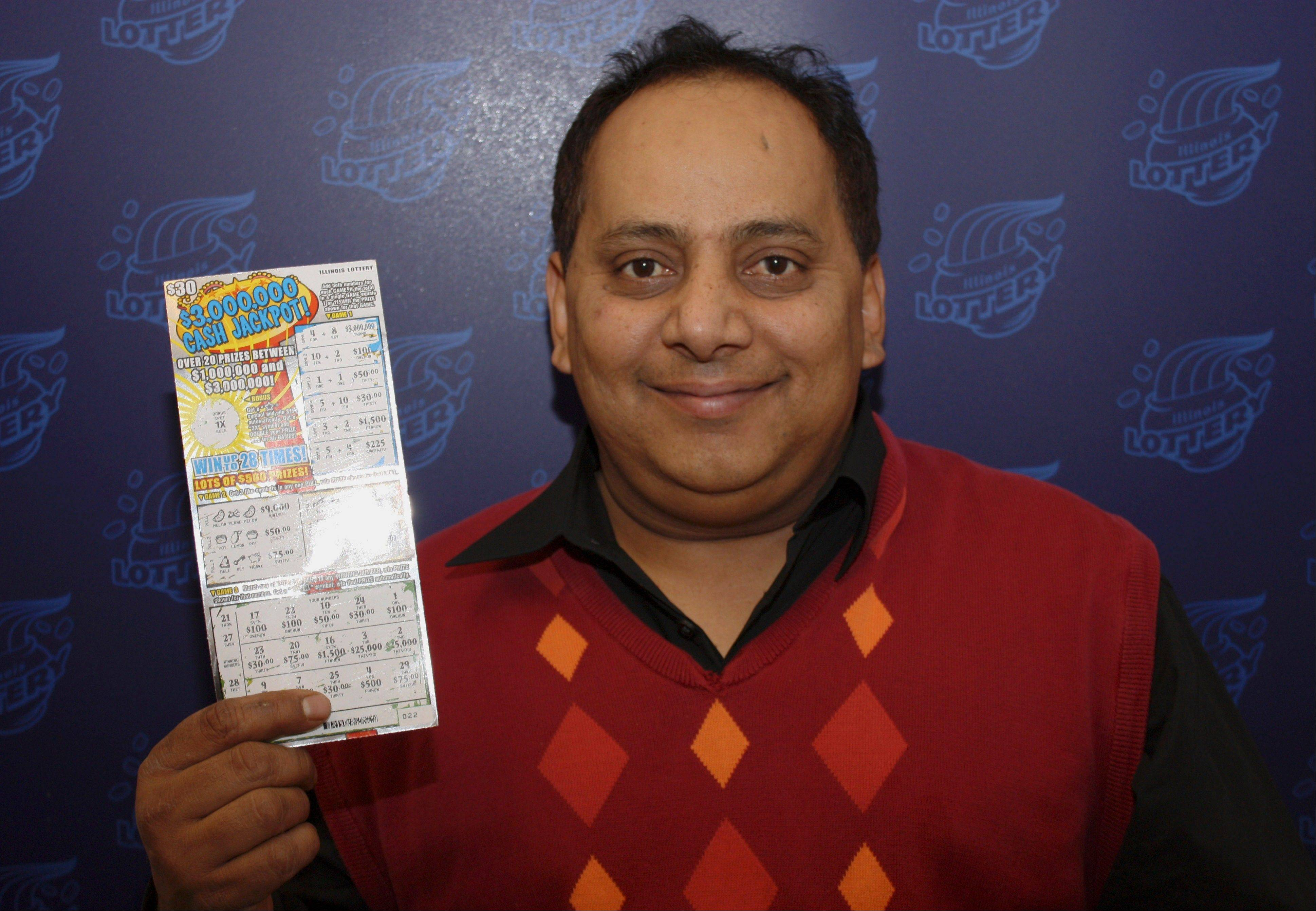 Urooj Khan, 46, died shortly before he was to collect his lottery winnings.