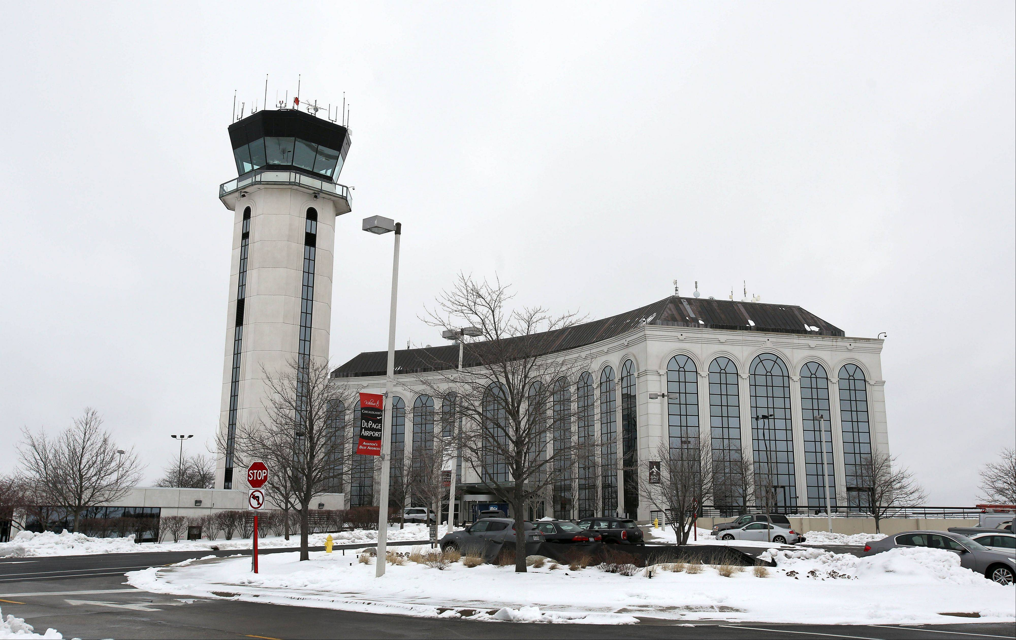 Bev Horne/bhorne@dailyherald.comThe DuPage County Airport in West Chicago could see its tower closed if cuts triggered by the sequester occur.