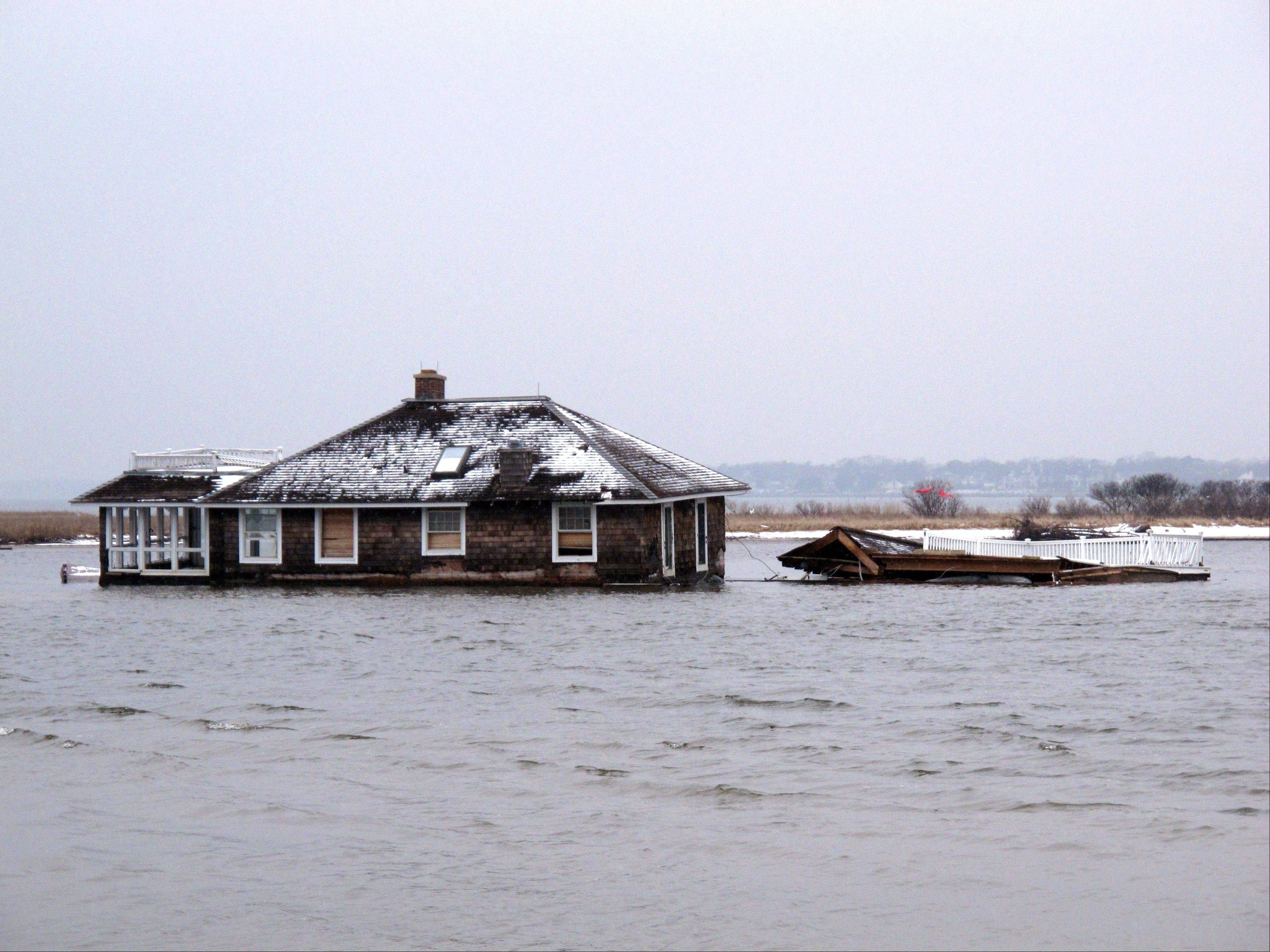 States hit hard by Superstorm Sandy are gearing up to remove tons of debris from waterways, including houses, vehicles, sunken boats, furniture, pieces of piers, decks and bulkheads.