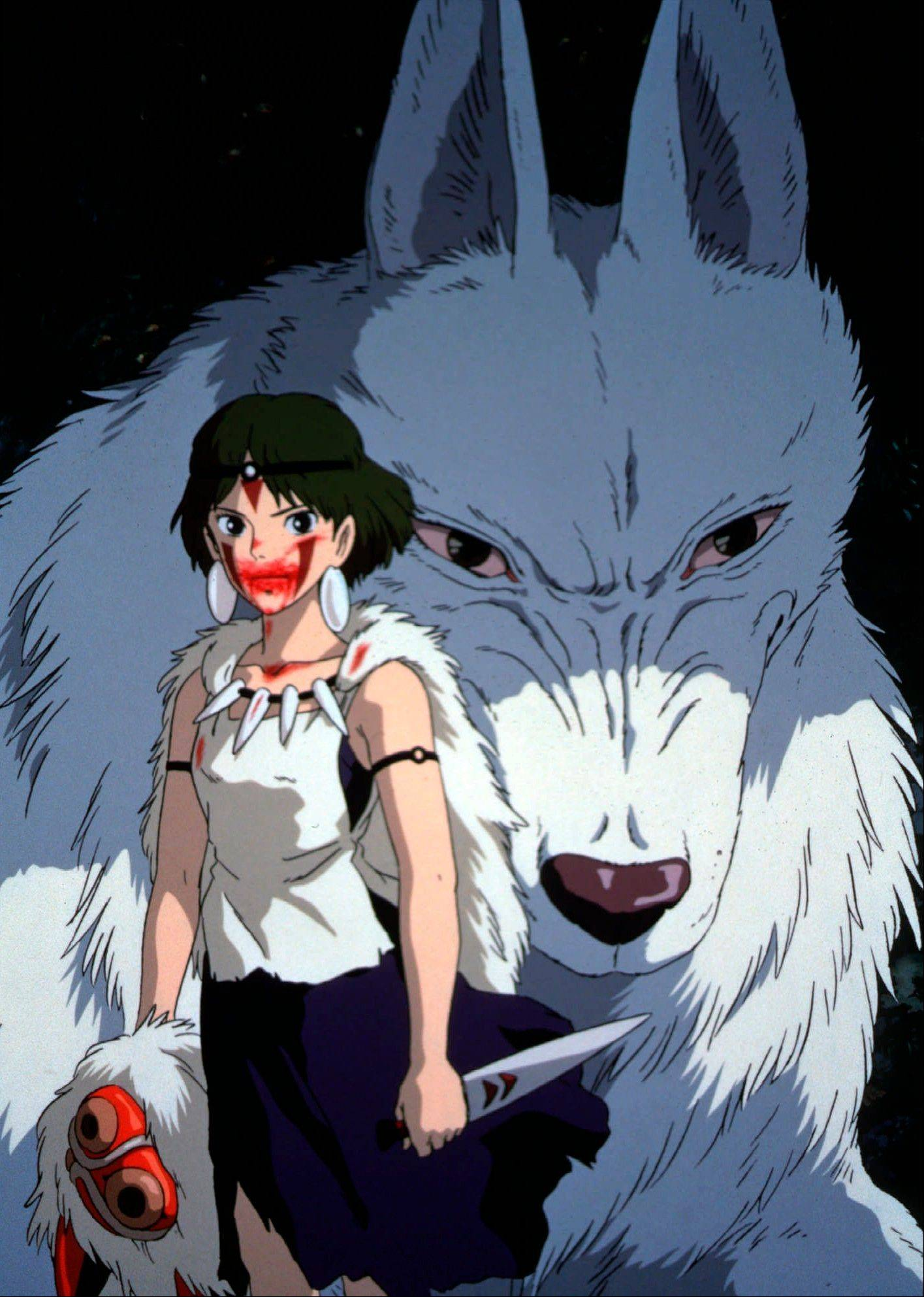 "The title character ""Princess Mononoke,"" heroine of Japan's megahit movie."