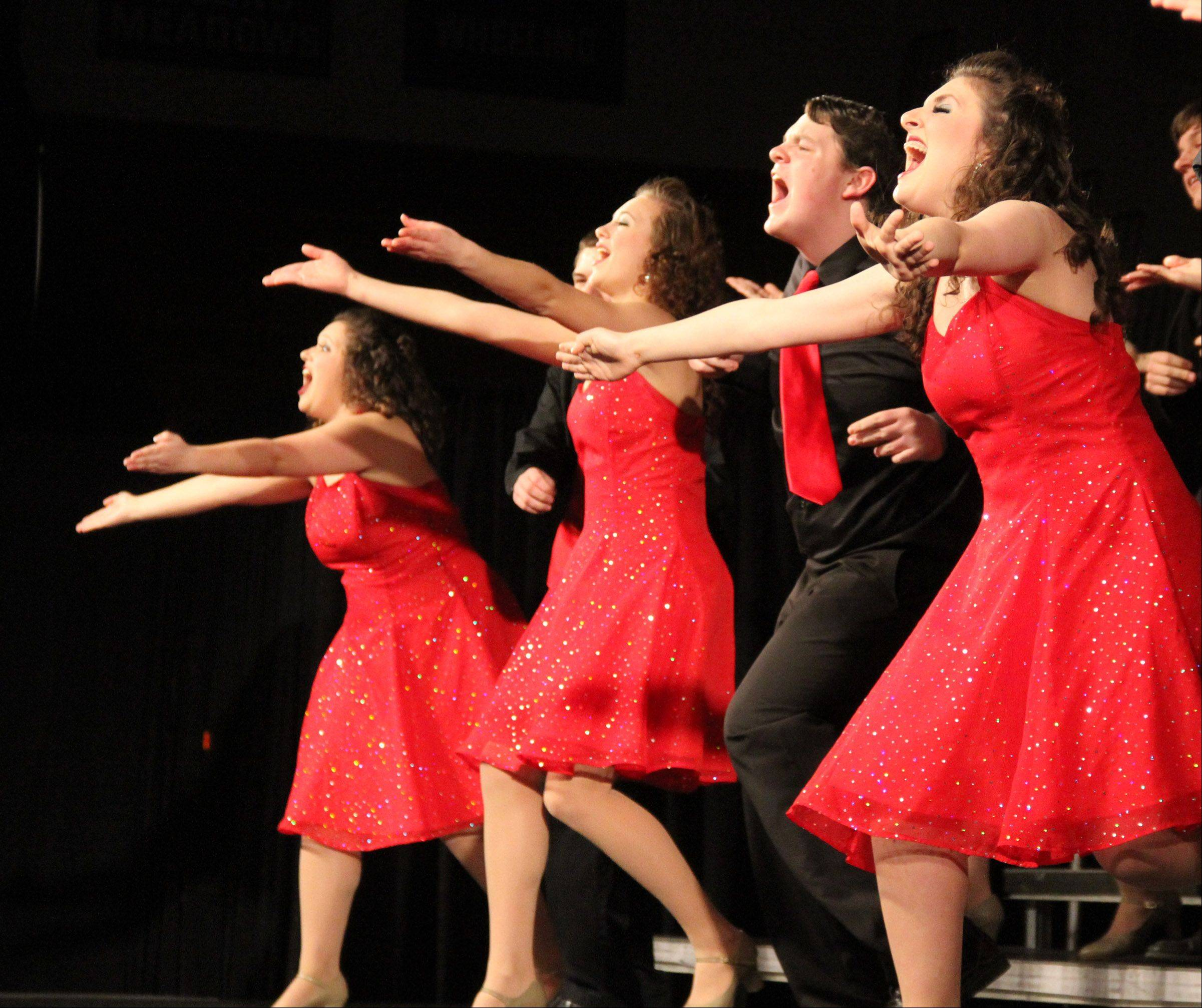 Swingsingers of Batavia High School perform at the 20th annual Chicagoland Showcase hosted by Hersey High School in Arlington Heights on Saturday.
