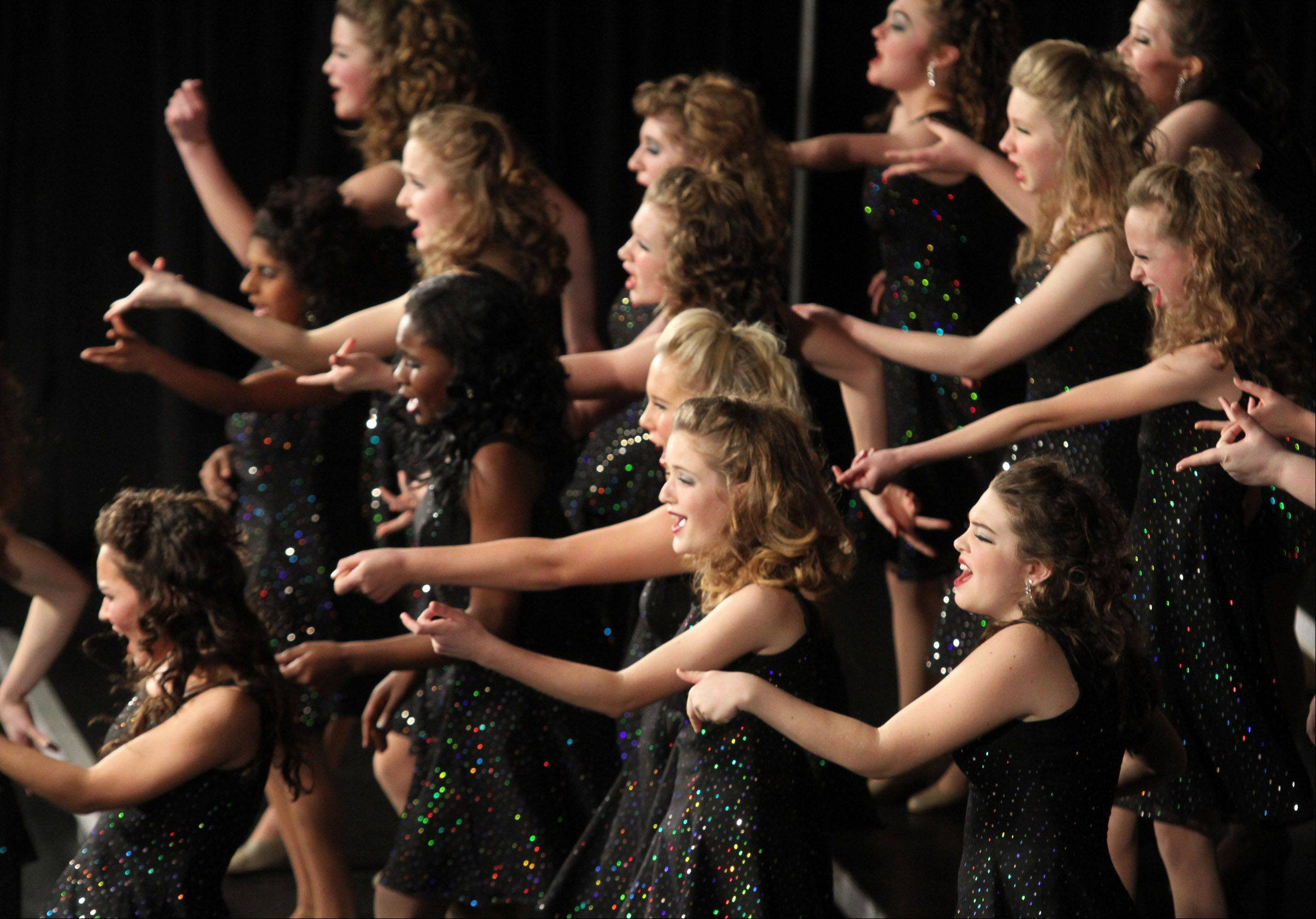 Legacy of Batavia High School perform at the 20th annual Chicagoland Showcase hosted by Hersey High School in Arlington Heights on Saturday.