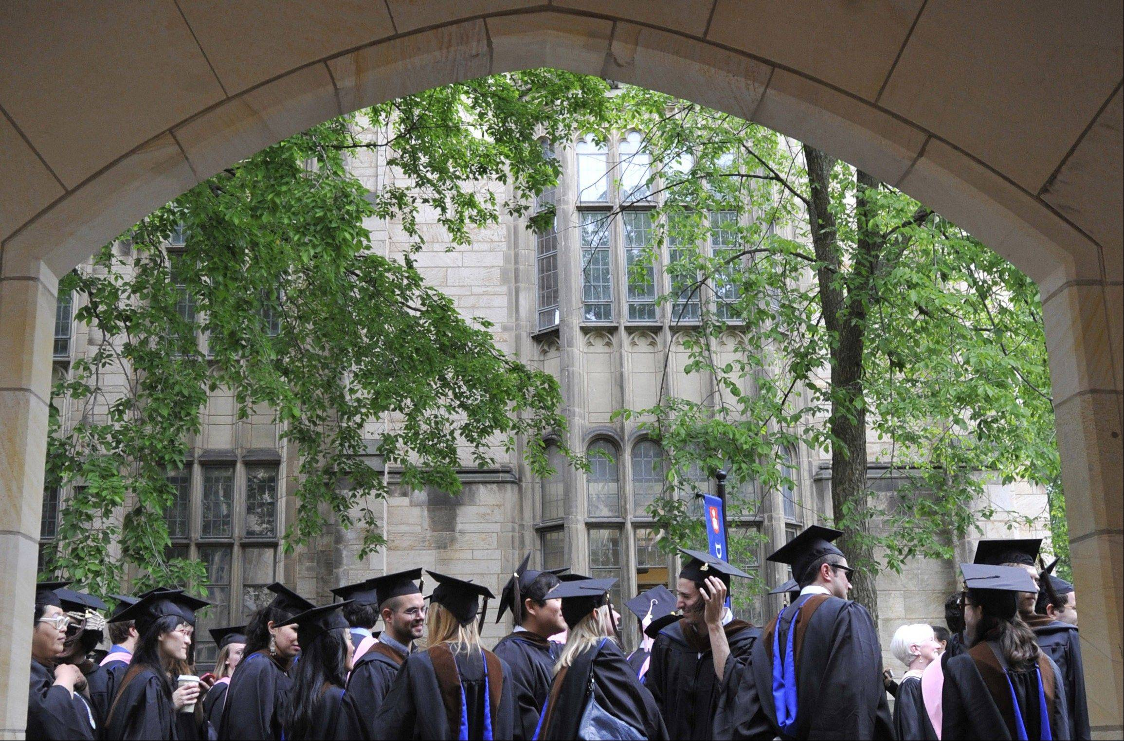 Associated Press/May 24, 2010Future graduates wait for the procession to begin for commencement at Yale University in New Haven, Conn.