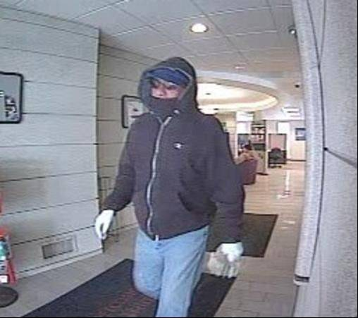 This is a photo of the man who police say robbed an Elgin bank on Saturday.