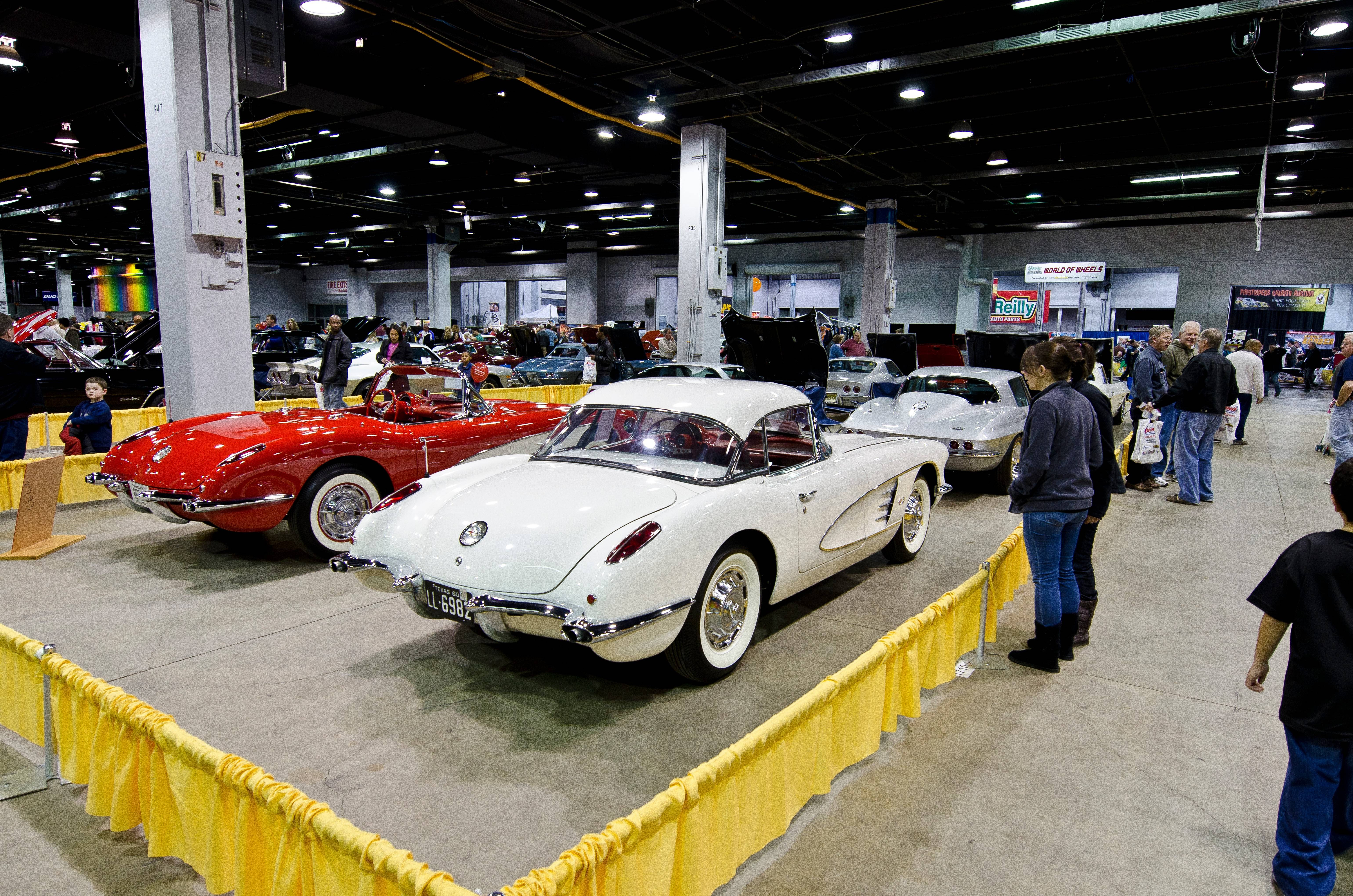 These Chevy Corvettes and numerous other treasured autos were on display at a previous World of Wheels car show in Rosemont.