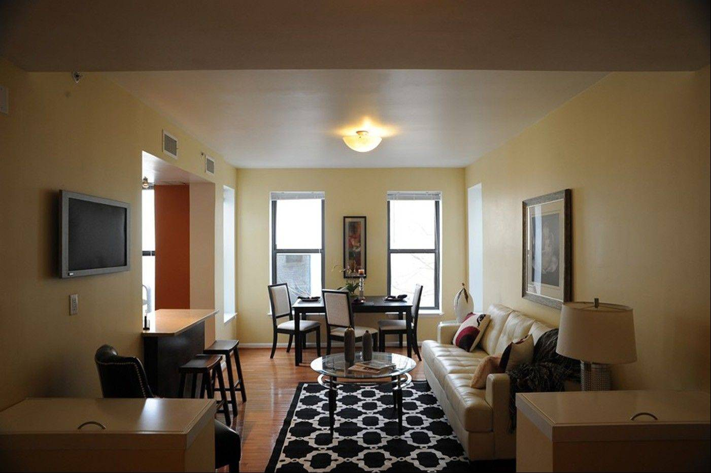 Chris French�s vacant condo in Washington, D.C., was staged to be more appealing to potential buyers using furniture and other items from New Vision Staging & Design.
